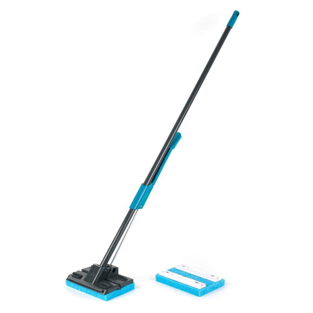 Beldray Sponge Mop with Long Handle and Extra Sponge Head - Black / Blue