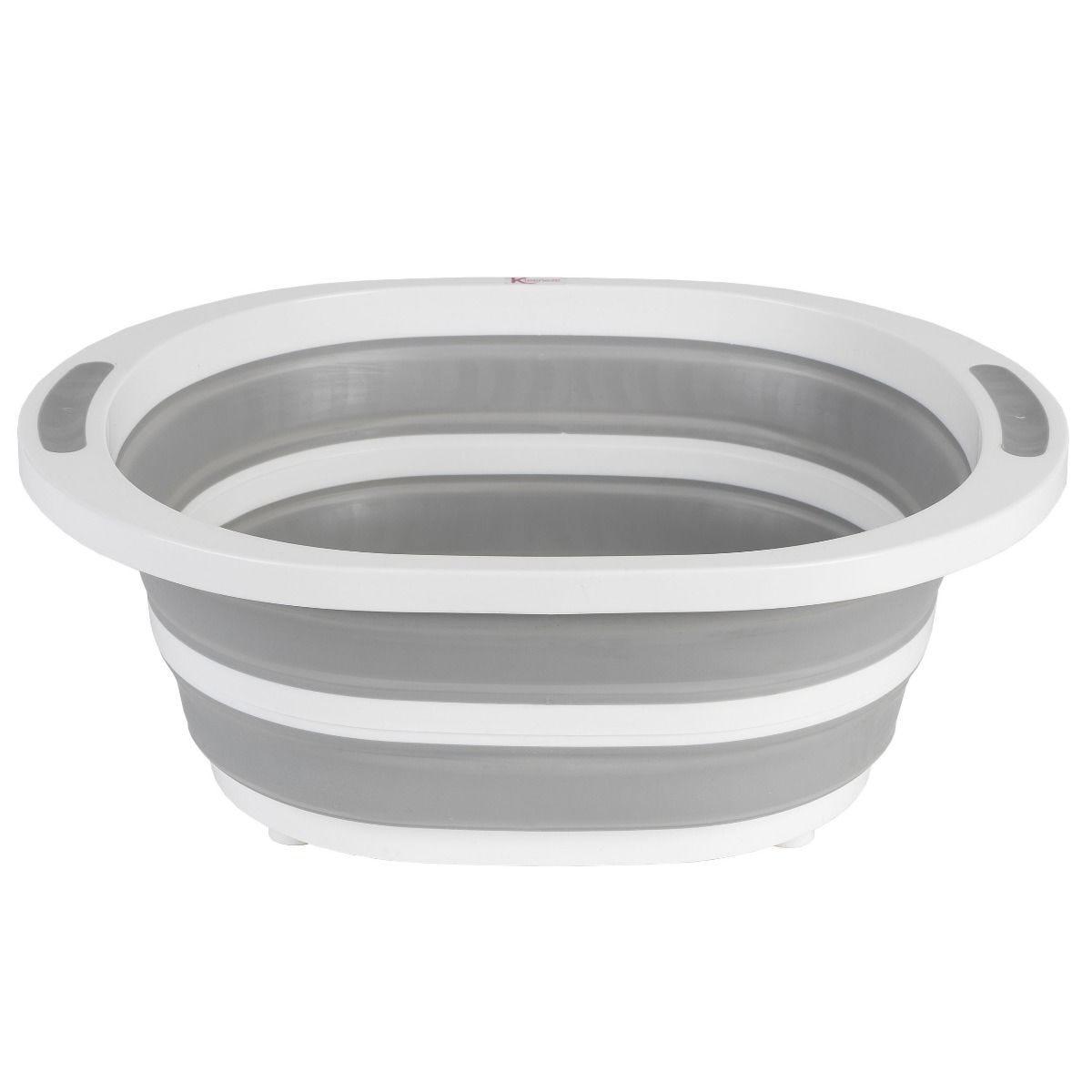 Kleeneze Collapsible Washing Up Bowl White/Grey