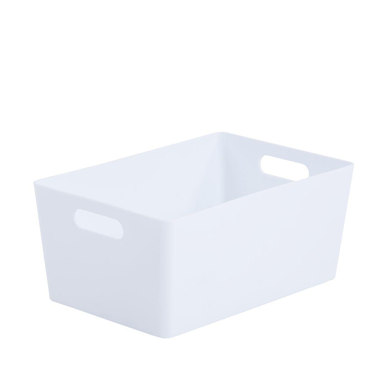 Wham Rectangular Studio Store Basket 4.02 - Ice White