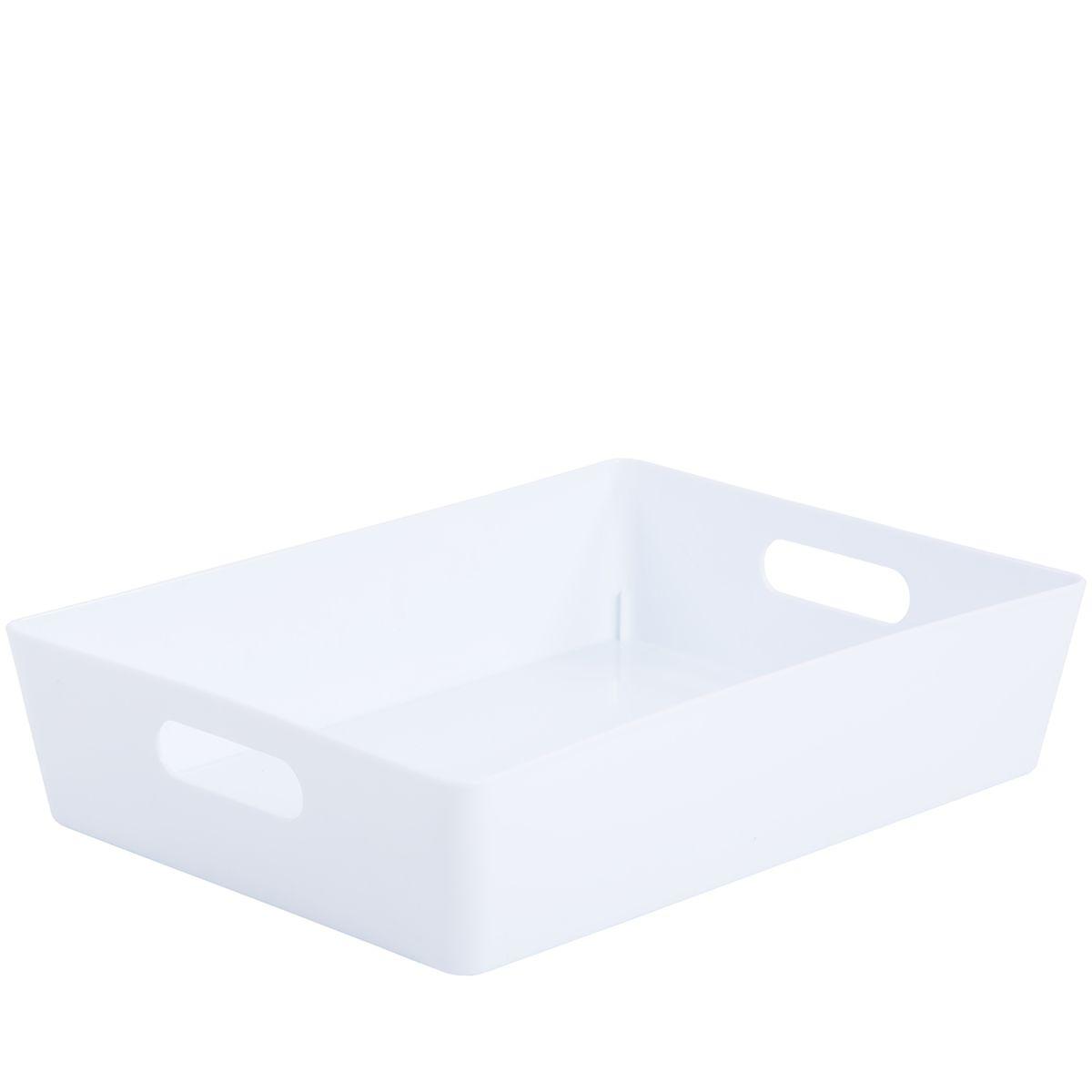 Wham Rectangular Studio Store Basket 5.01 - Ice White