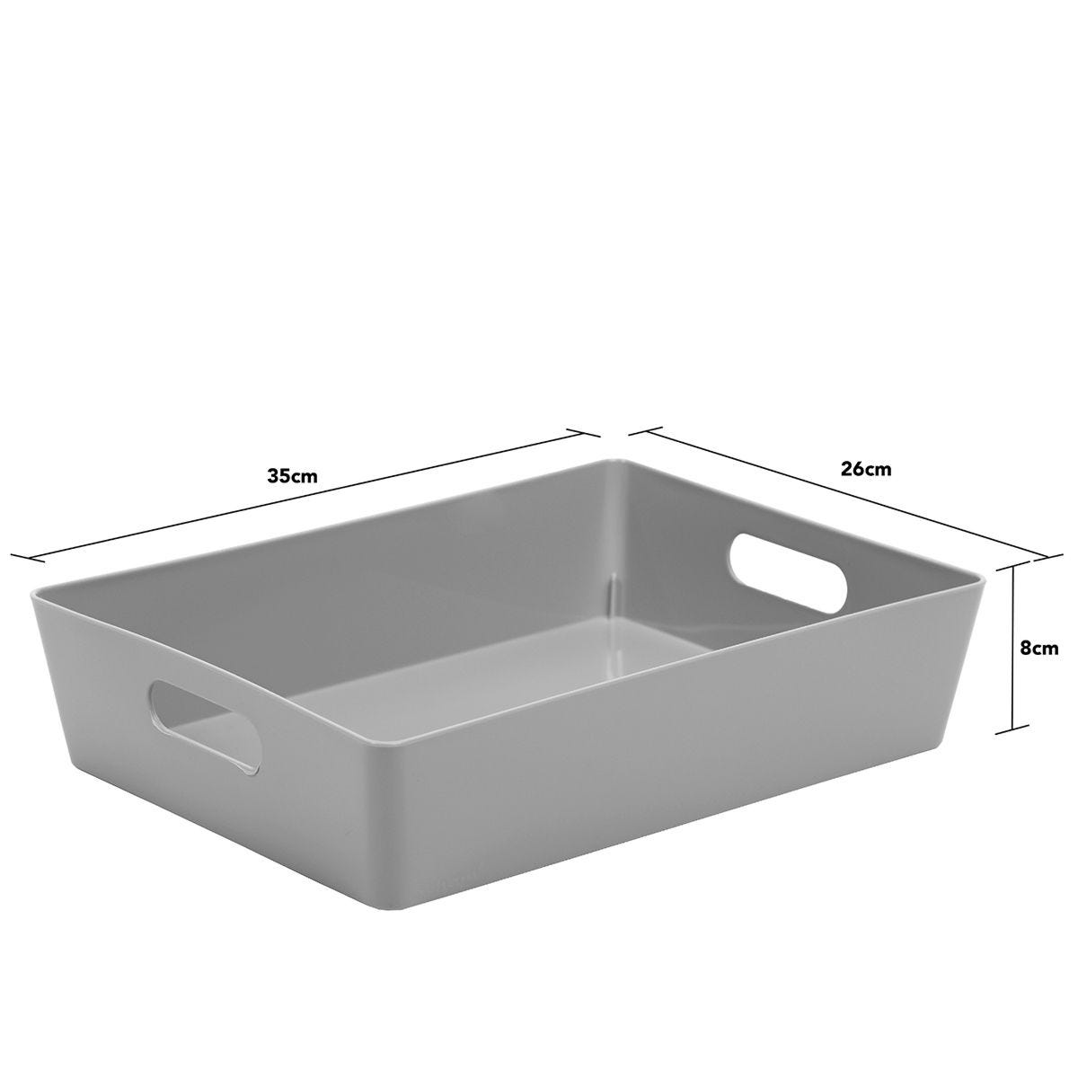 Rectangular Studio Store Basket 5.01 - Cool Grey