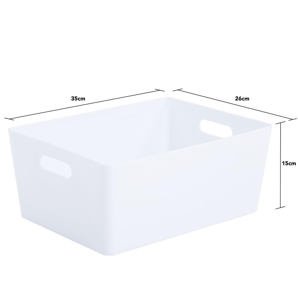 Wham Rectangular Studio Store Basket 5.02 - Ice White