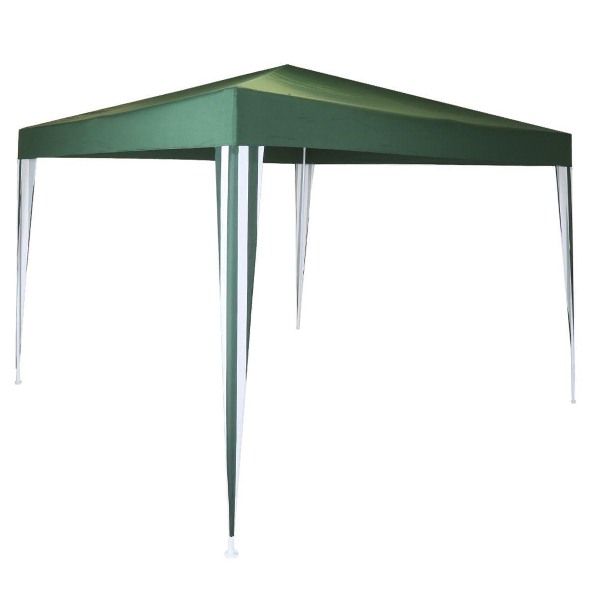Charles Bentley 3 x 3m Polyester Gazebo - Green/Stripe
