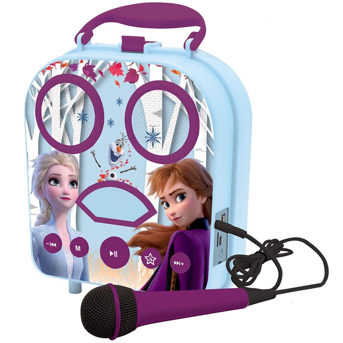 Lexibook Disney Frozen II My Secret Portable Karaoke with Microphone & Bluetooth Speaker