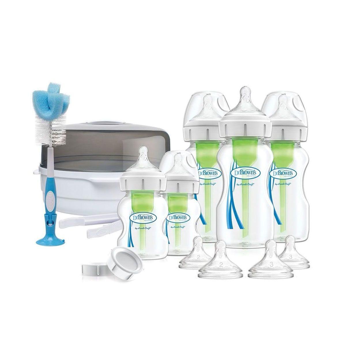Dr Brown's DBAC167 Options Bottle & Steriliser Gift Set – White
