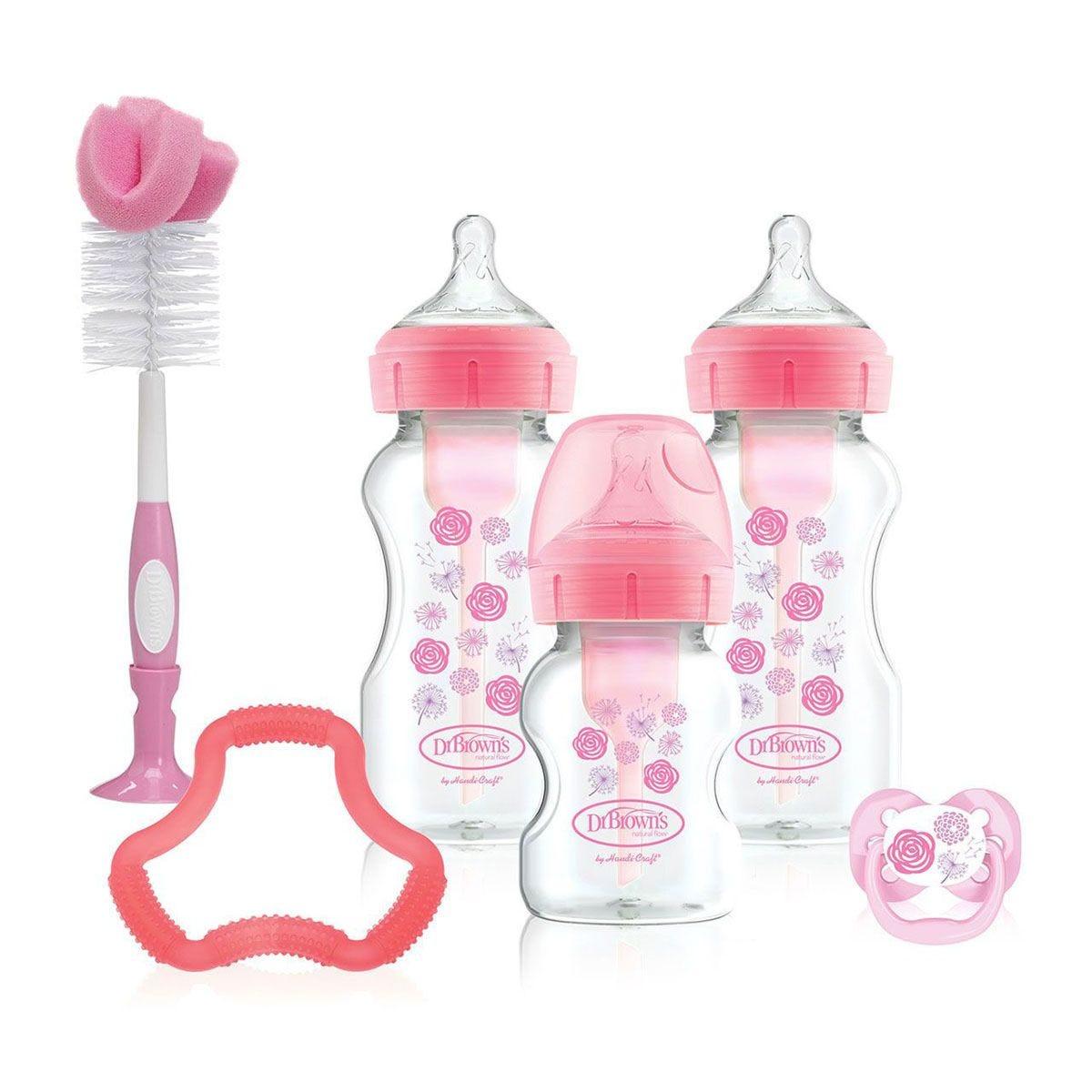 Dr Brown's DBWB03601 Options+ Gift Set – Pink