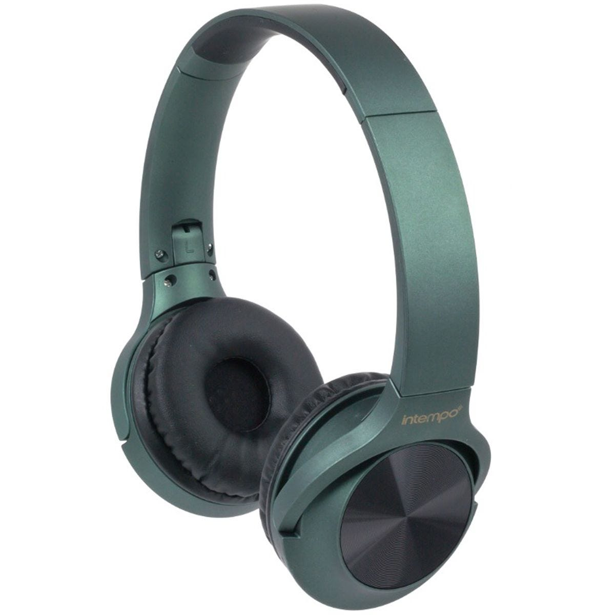 Intempo Urban WDS180 Wireless Bluetooth Foldable Headphones - Green
