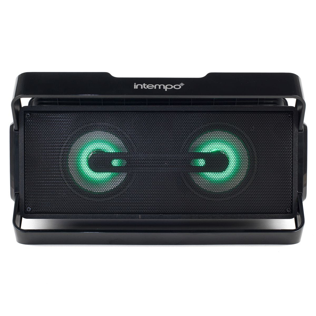 Intempo LED Bluetooth Boombox Speaker for iPhone, Android and Other Smart USB Devices - Black