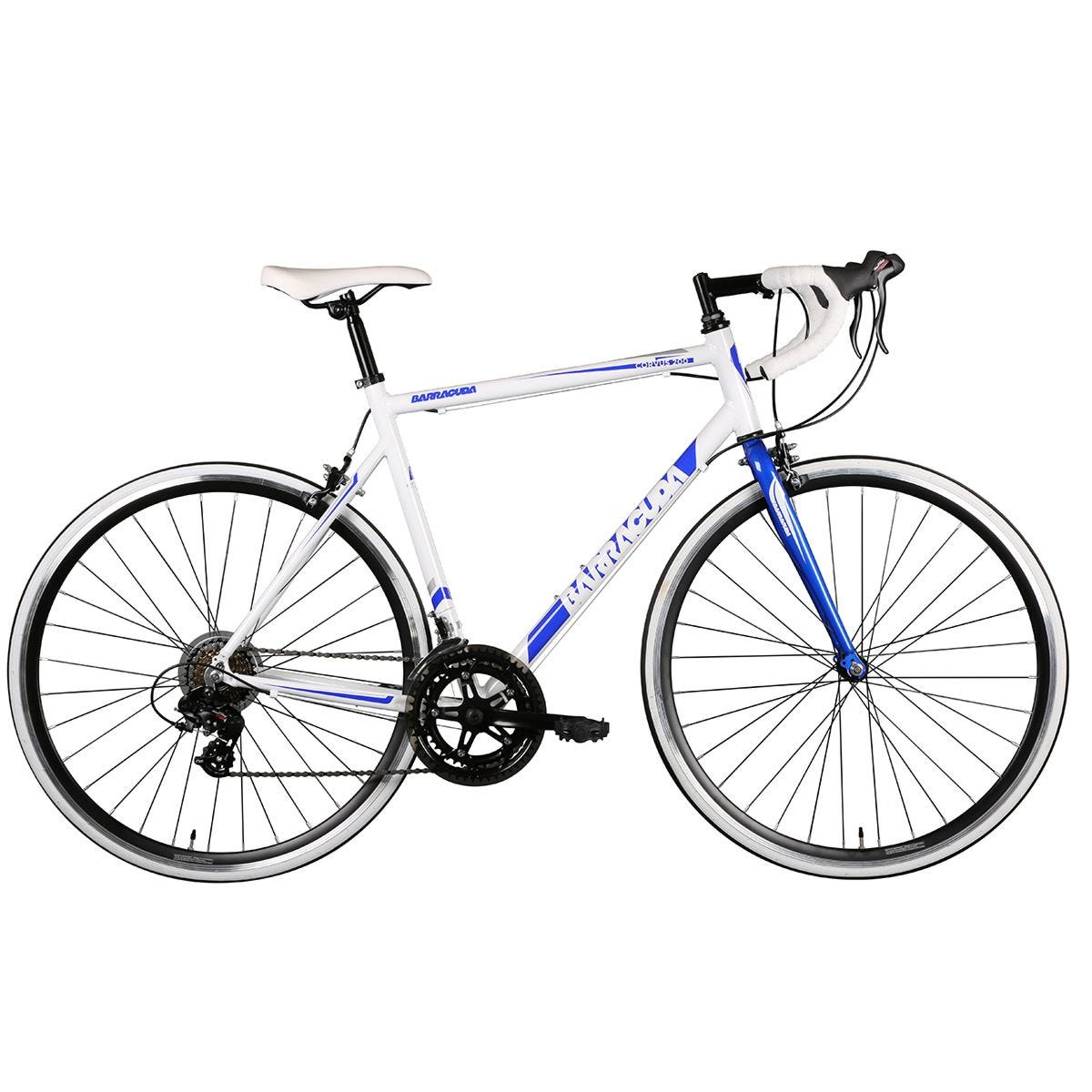Barracuda Corvus 200 Steel Road Bike 700c Wheel - White/Blue