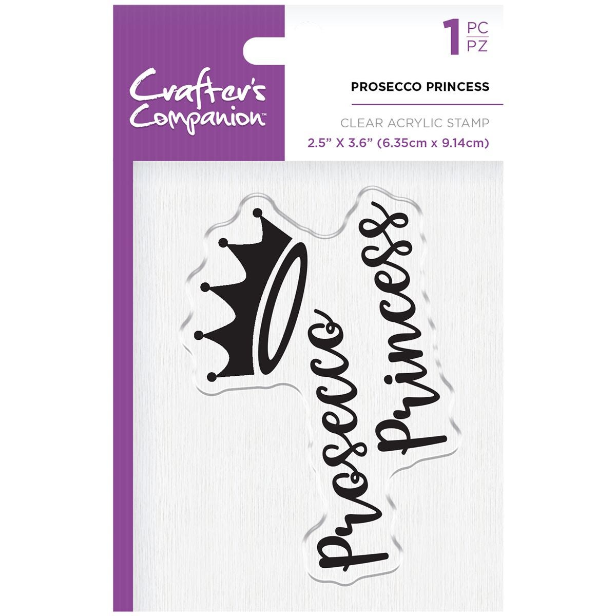 Crafter's Companion Clear Acrylic Stamps - Prosecco Princess
