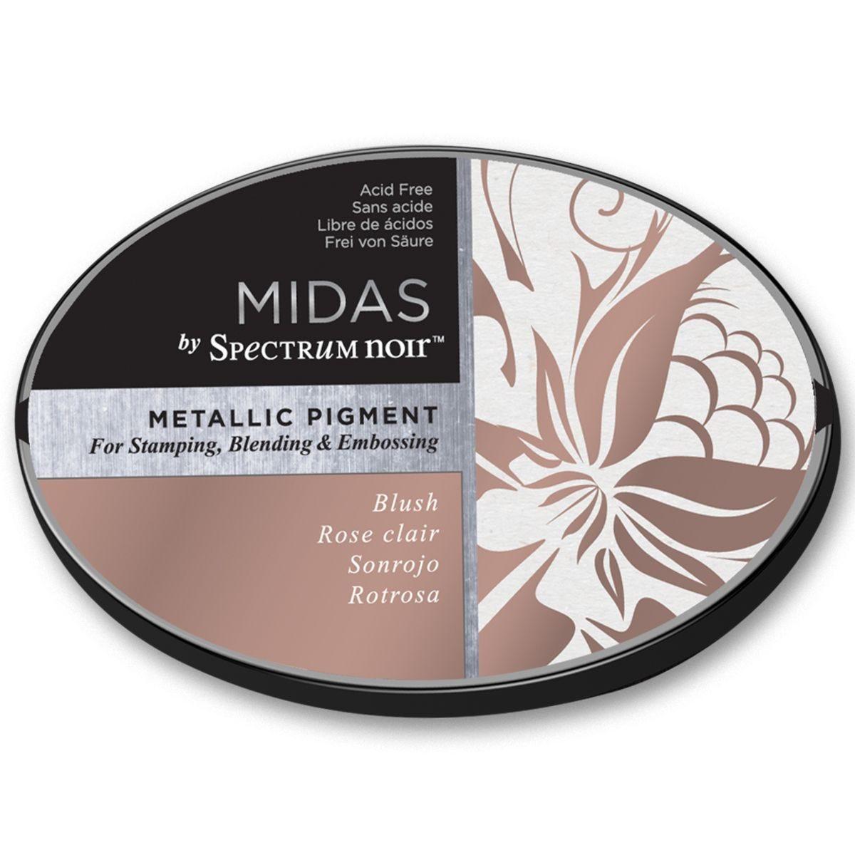 Midas by Spectrum Noir Metallic Pigment Inkpad - Blush