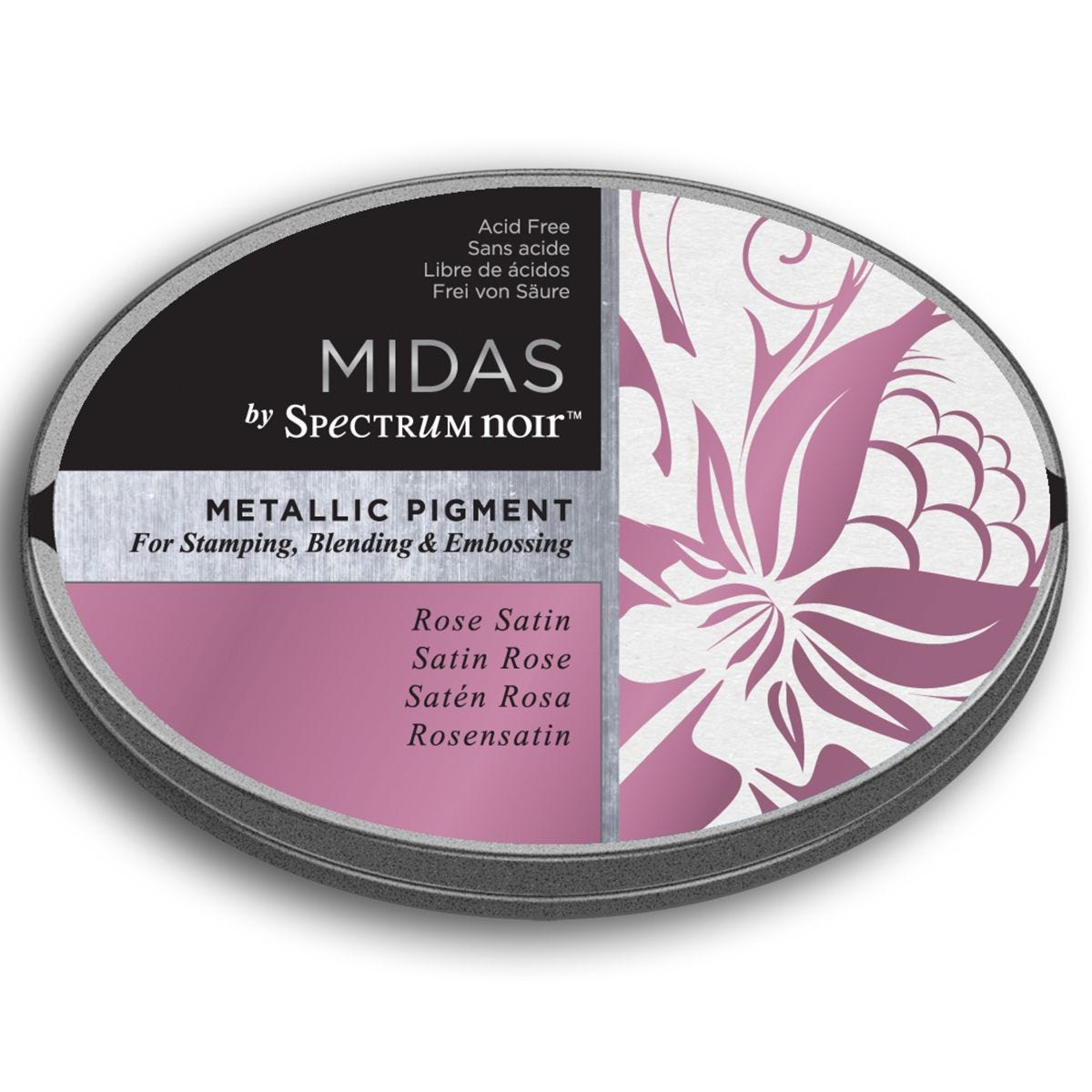 Midas by Spectrum Noir Metallic Pigment Inkpad - Rose Satin