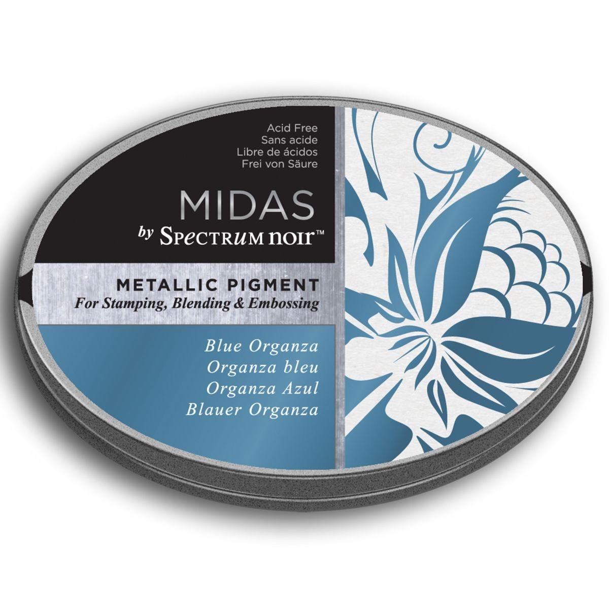 Midas by Spectrum Noir Metallic Pigment Inkpad - Blue Organza