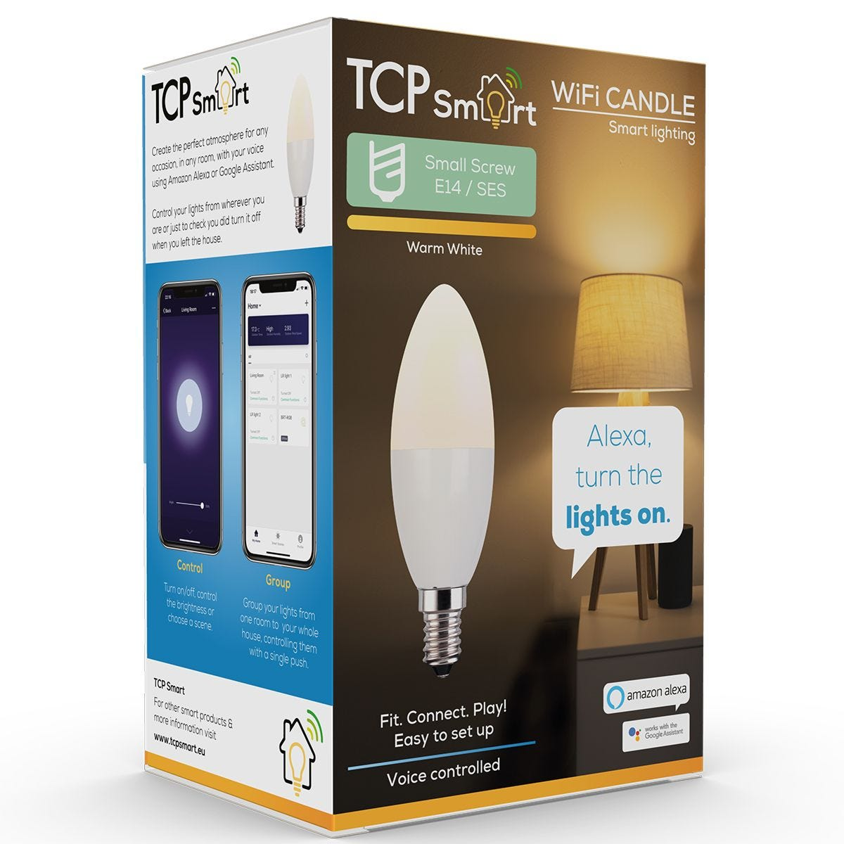 TCP Smart LED Wifi Candle 470 Lumens SES/E14 Dimmable - Warm White