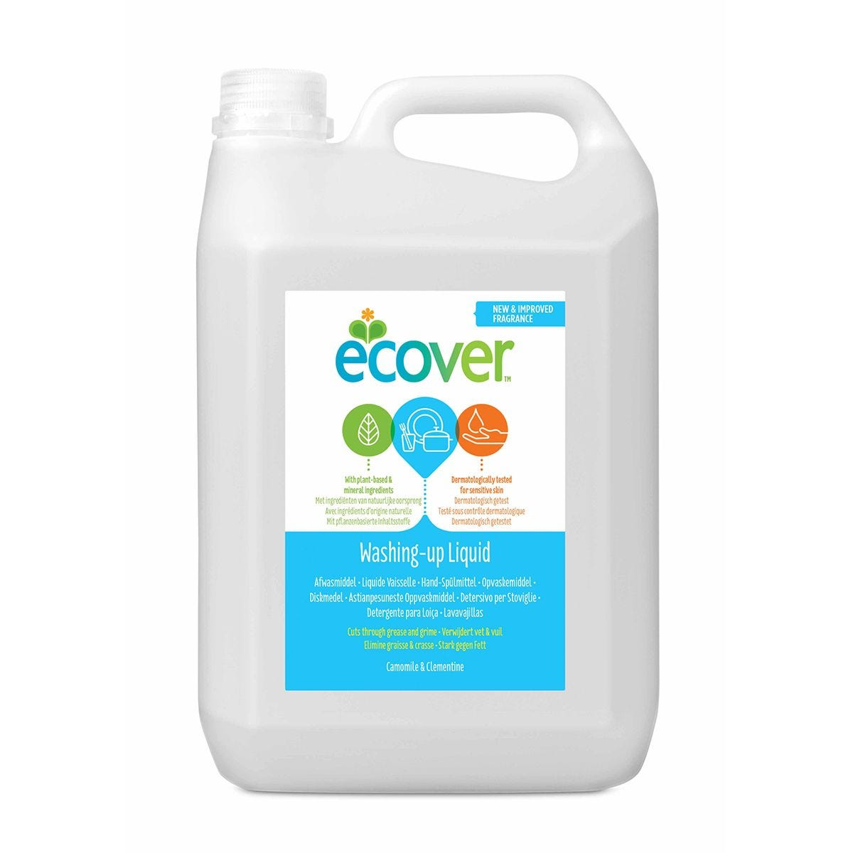 Ecover Washing Up Liquid 5L Refill - Camomile & Clementine