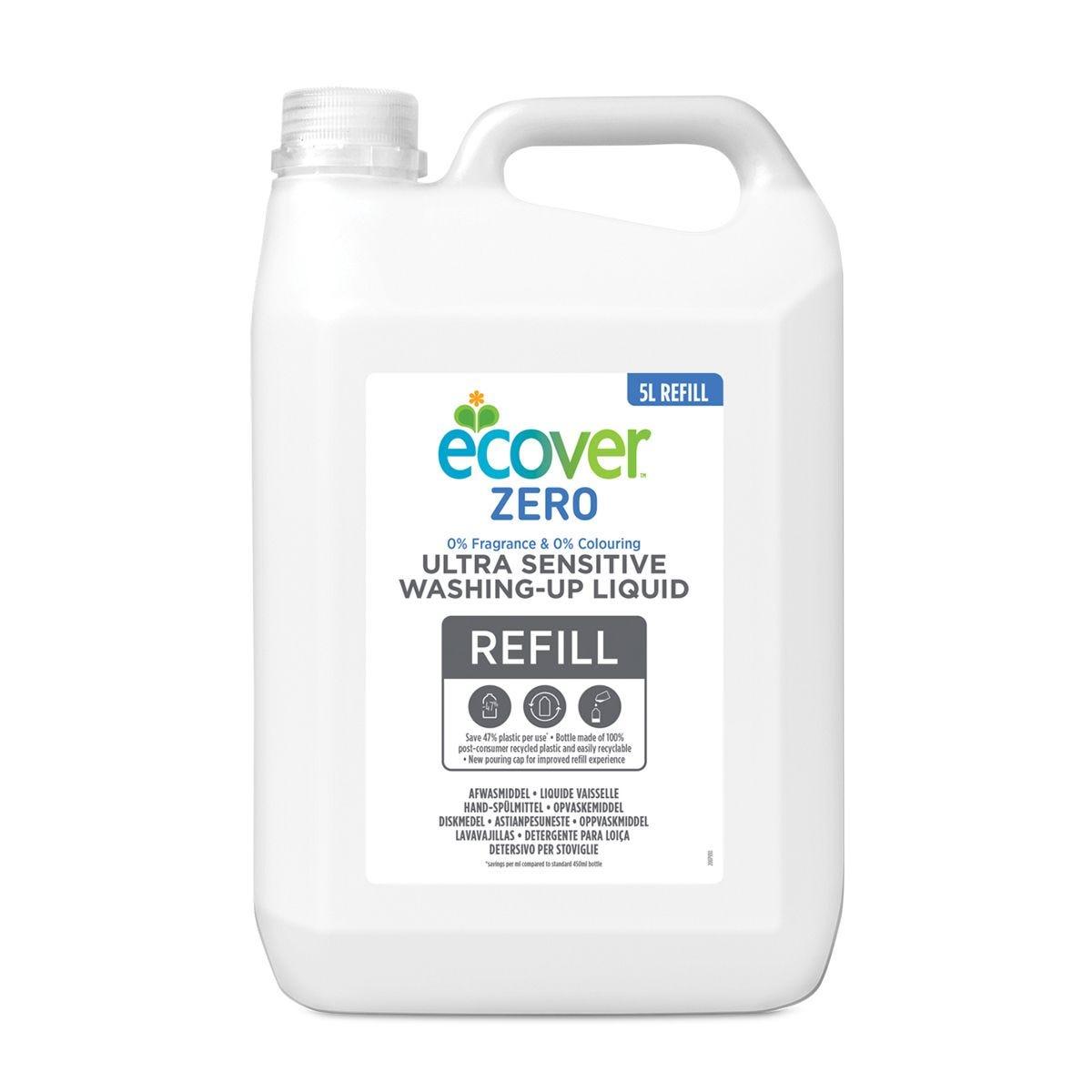 Ecover Zero Sensitive Washing Up Liquid - 5L Refill