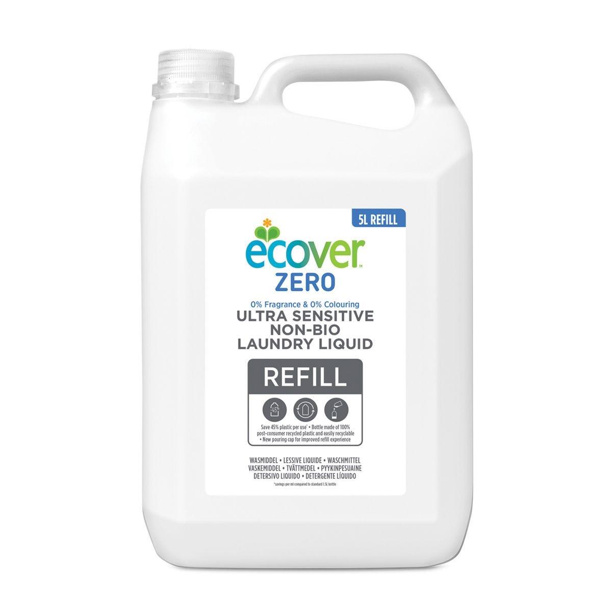 Ecover Zero Non-Bio Laundry Liquid - 5L Refill