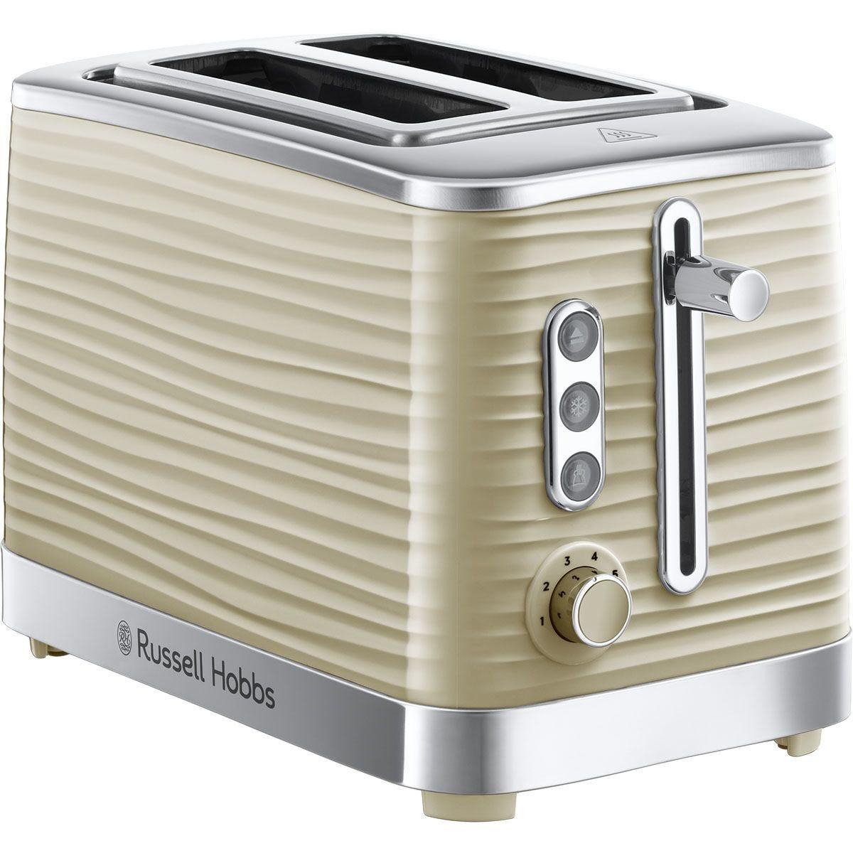 Russell Hobbs Inspire 2-Slice Toaster - Cream