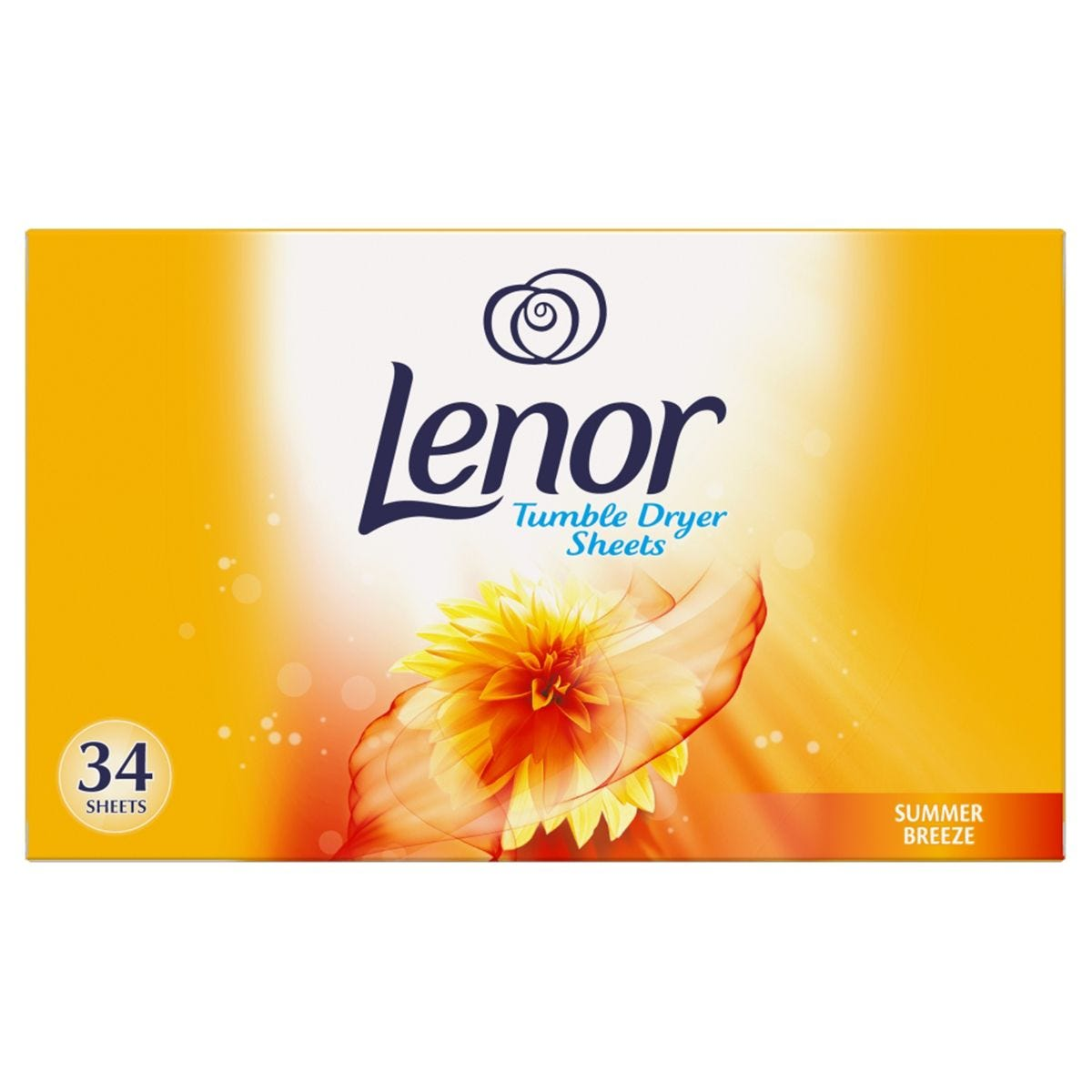 Lenor Summer Breeze Tumble Dryer Sheets - Pack of 34
