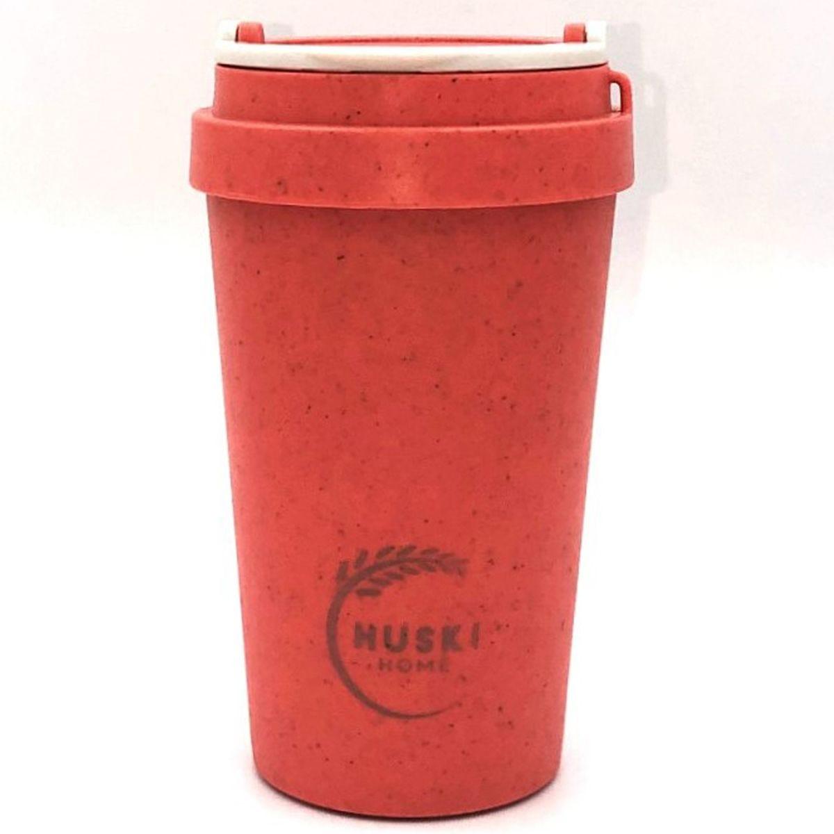 Huski Home Sustainable Rice Husk Travel Cup 400ml - Coral