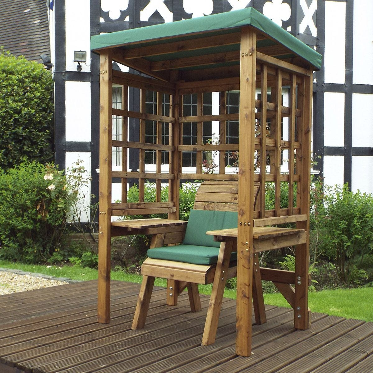 Charles Taylor Wentworth Single Arbour with Roof Cover and Cushions