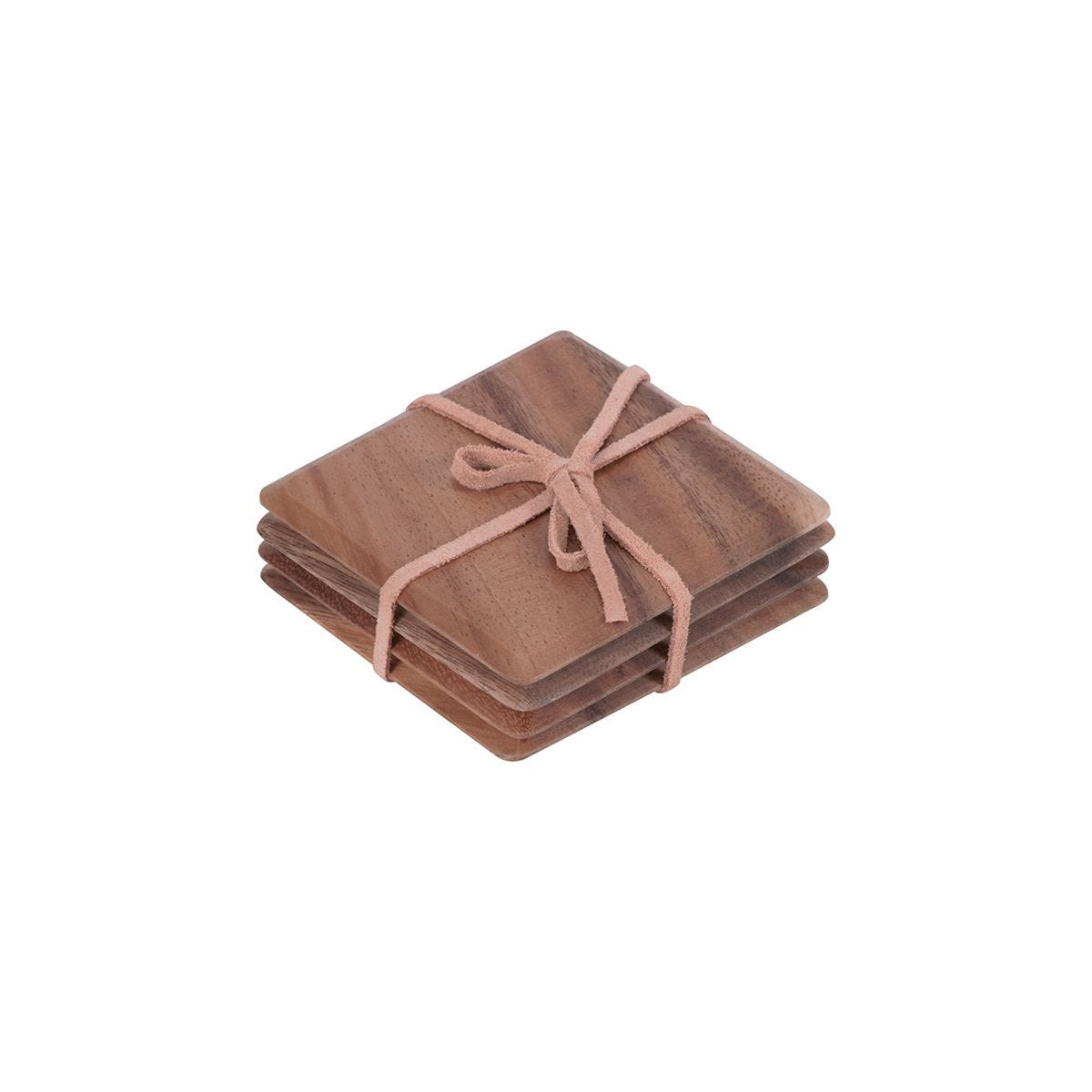 T&G Wooden Coasters - Set of 4