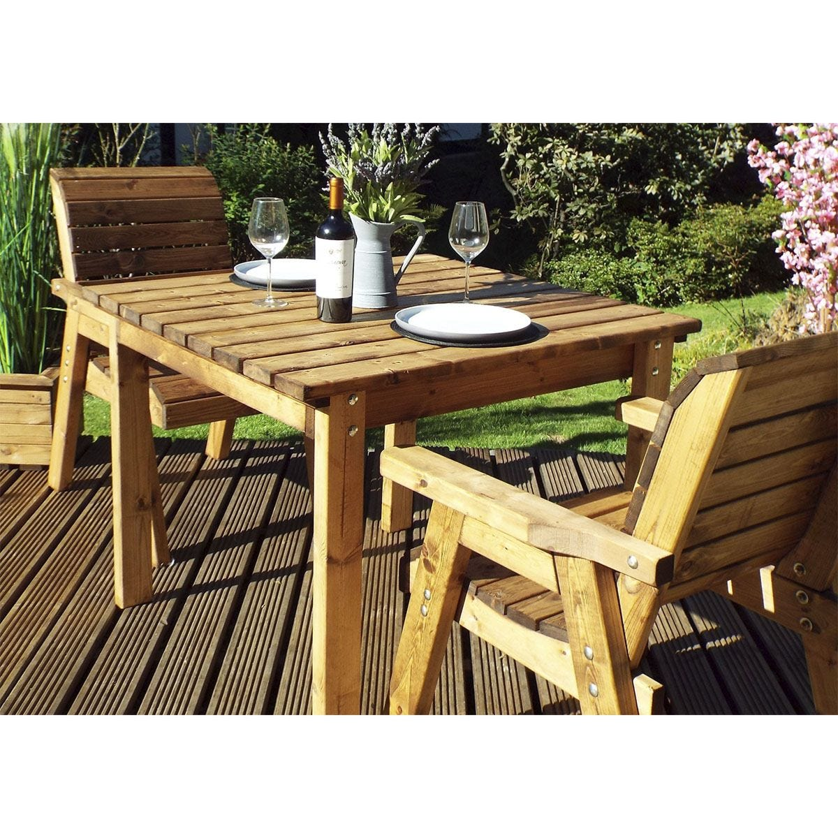 Charles Taylor 2 Seater Square Table Set with Cushions and Storage Bag