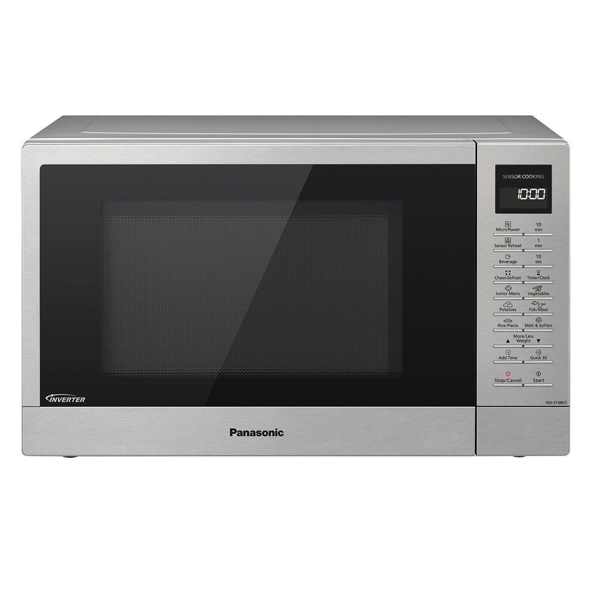 Panasonic NN-ST48KSBPQ 32L 1000W Digital Solo Microwave - Stainless Steel