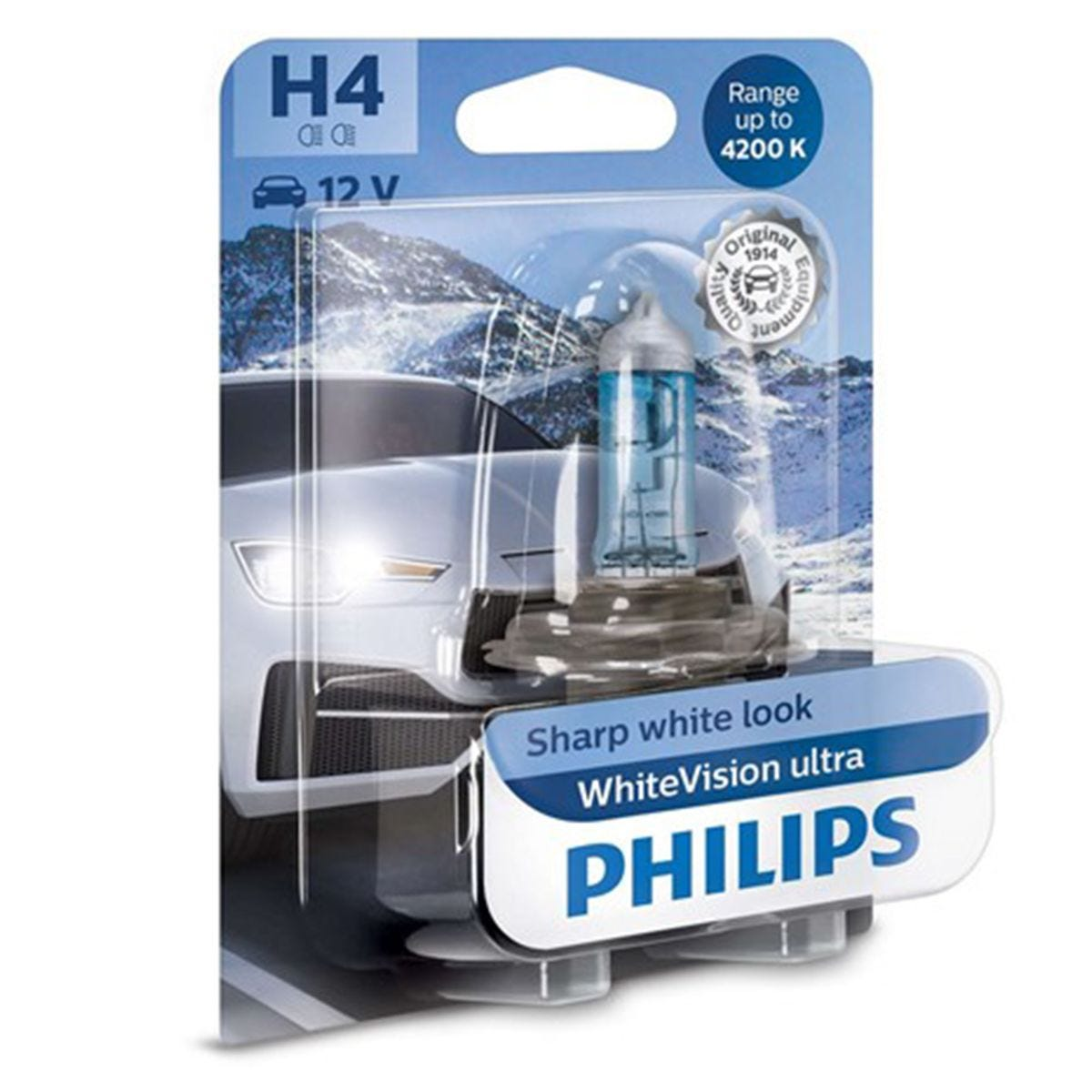 Philips WhiteVision ultra H4 Bulb