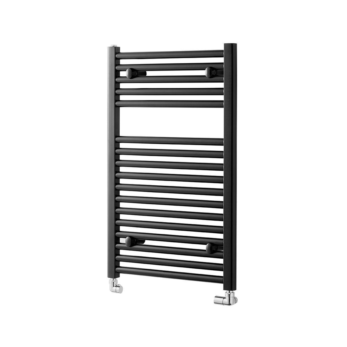 Towelrads Pisa Straight Towel Rail Radiator - Black 1200x600