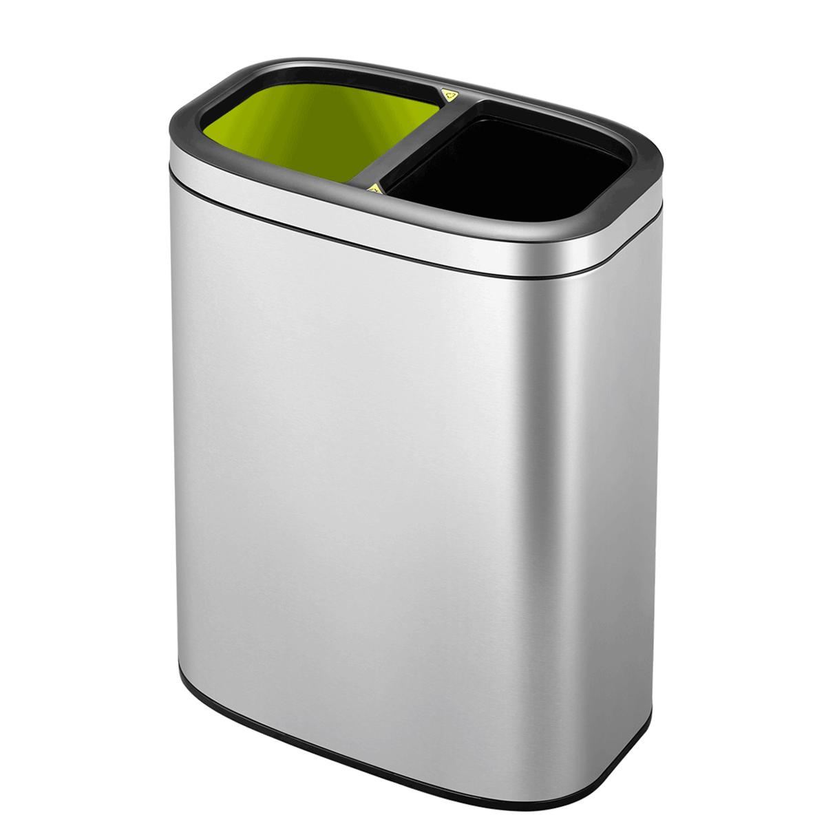 EKO Oli-Cube Recycling Bin 10L - Stainless Steel