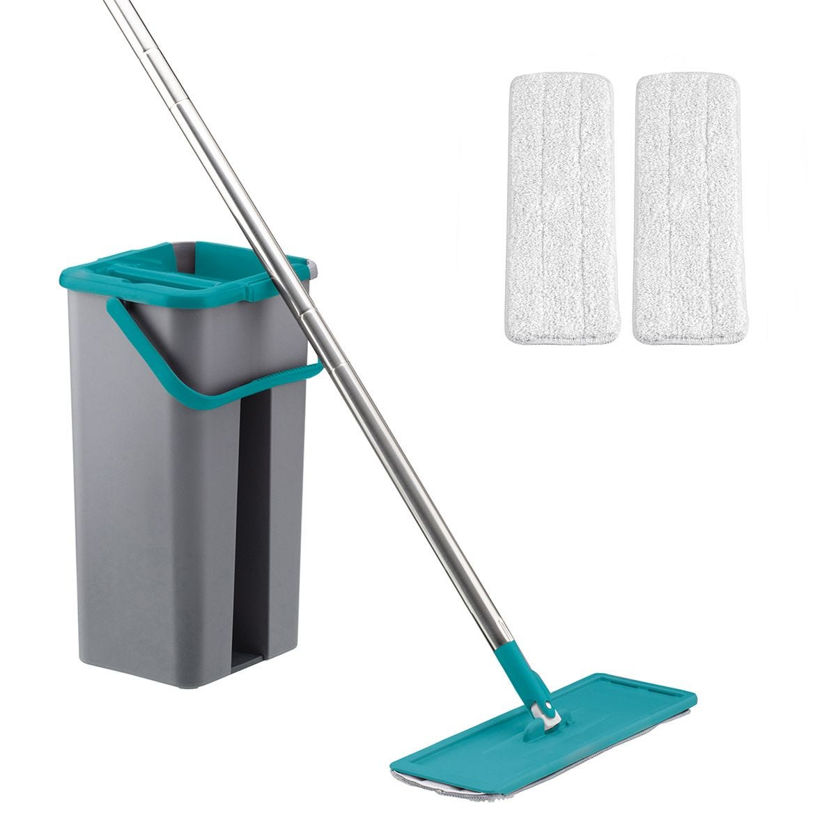 Easy Clean Flat Mop & Bucket - Turquoise