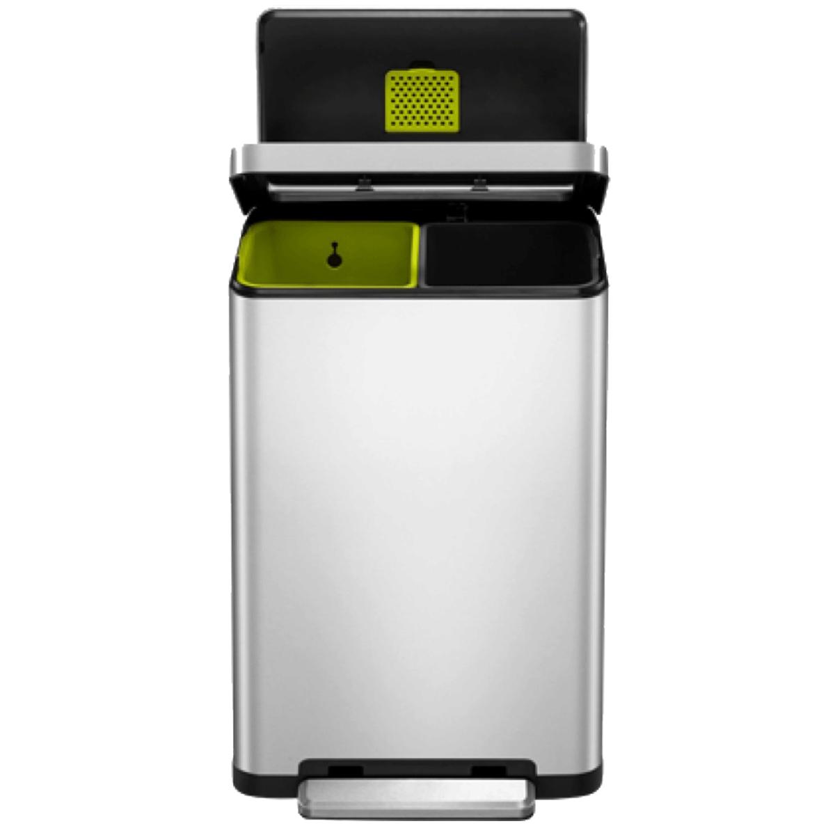 EKO X Cube Recycling Bin 40L - Silver