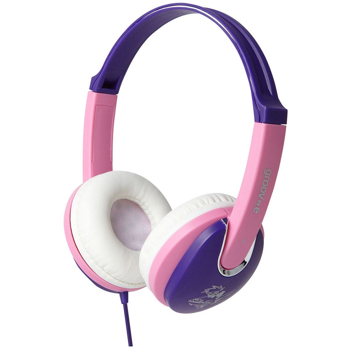 Groov-e Kiddiez DJ Style Headphone with 85dB Volume Limiter - Pink/Violet