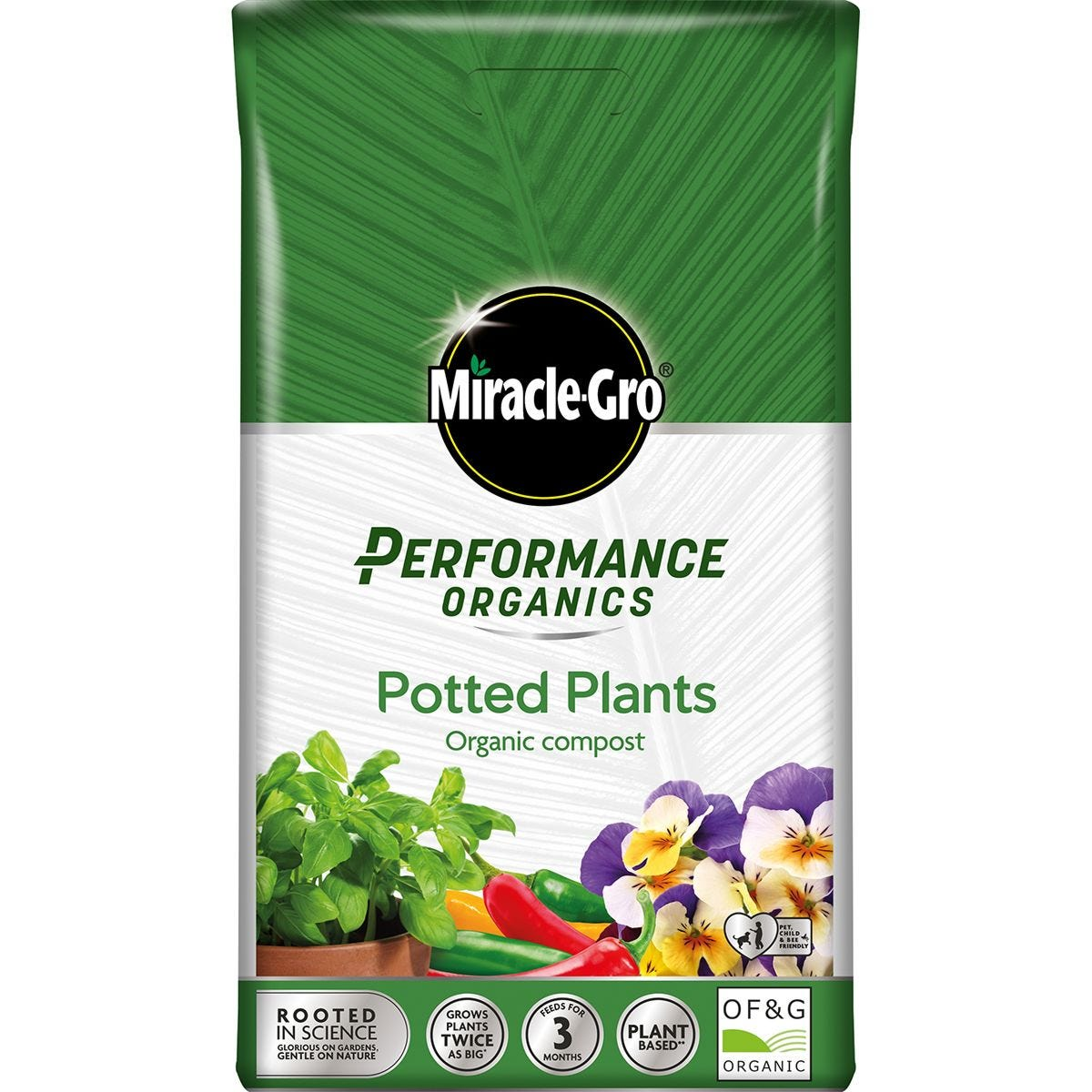 Miracle-Gro Performance Organics All Purpose Potted Plants Compost - 20L