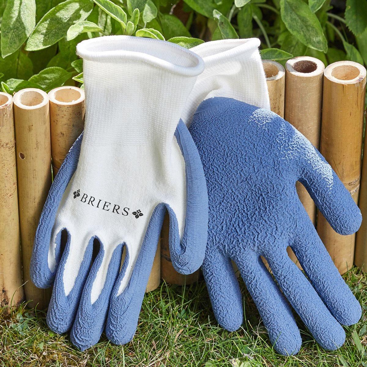 Briers Bamboo Grips Blue Garden Gloves - Small