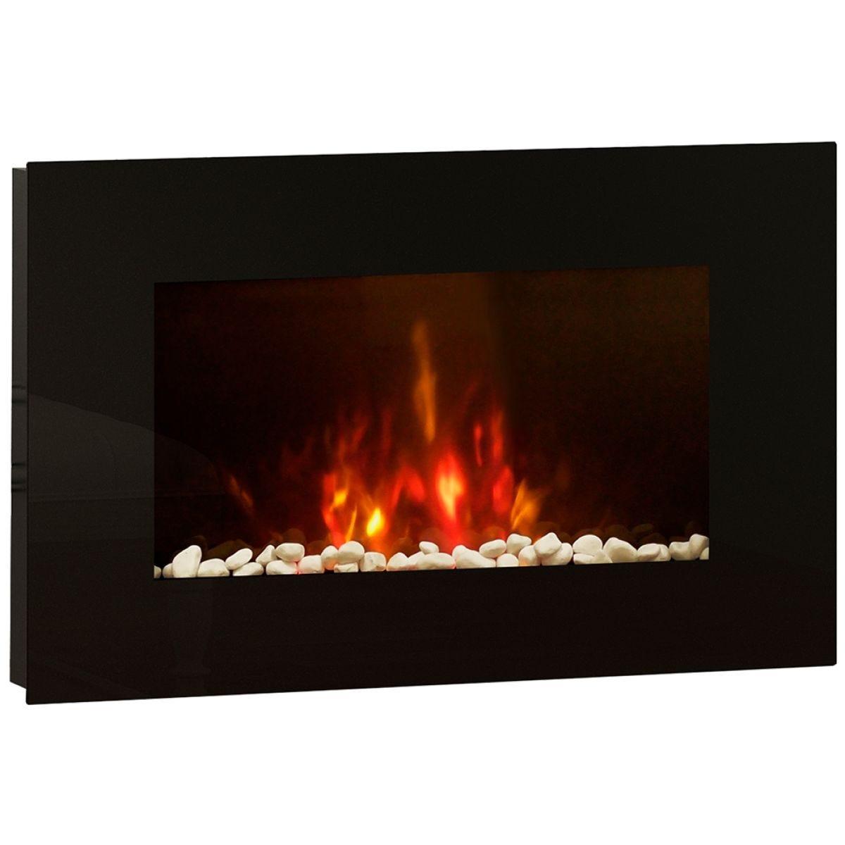 BeModern Azonto Electric Fireplace - Black Glass