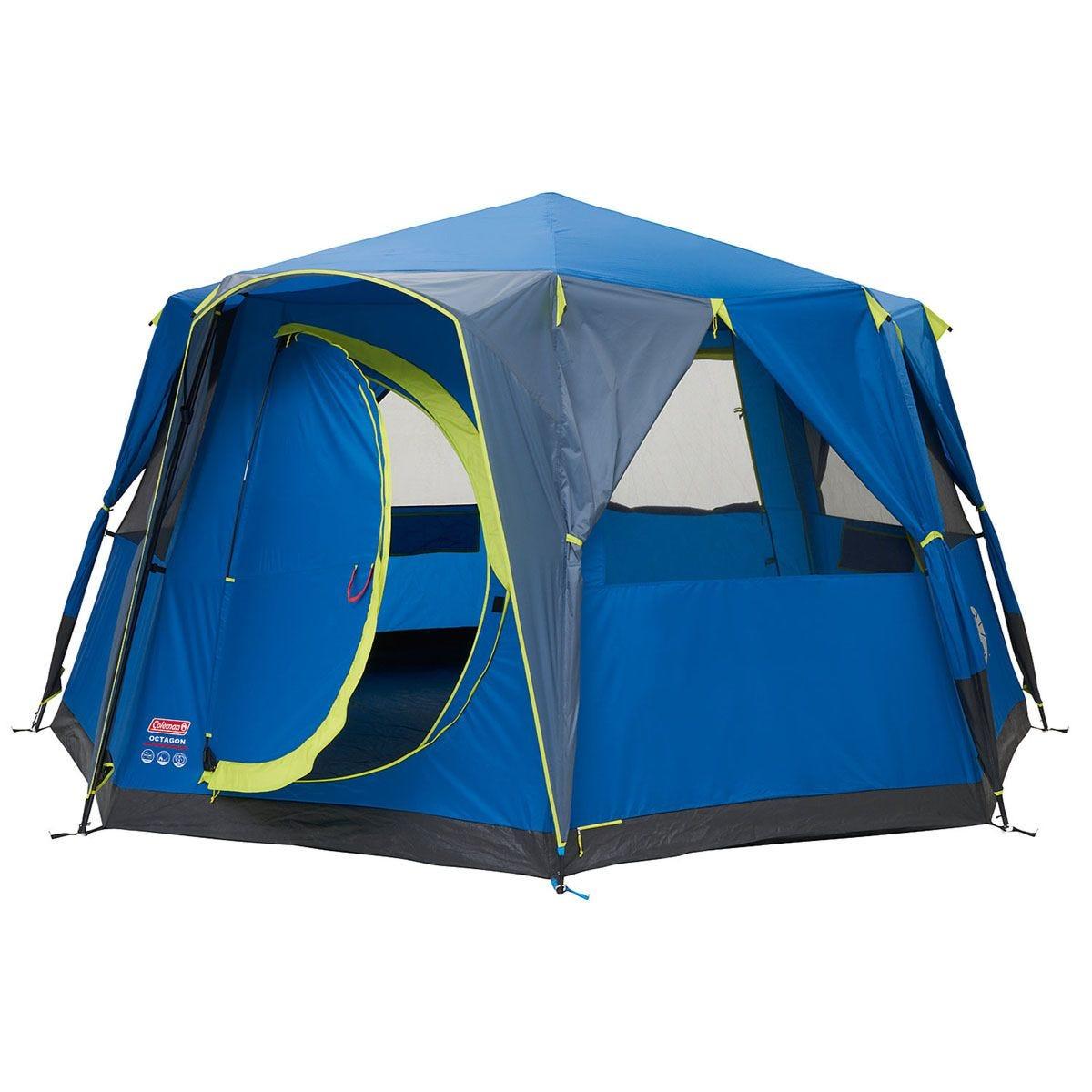 Coleman Cortes Octagon 8 Tent  - Blue & Lime