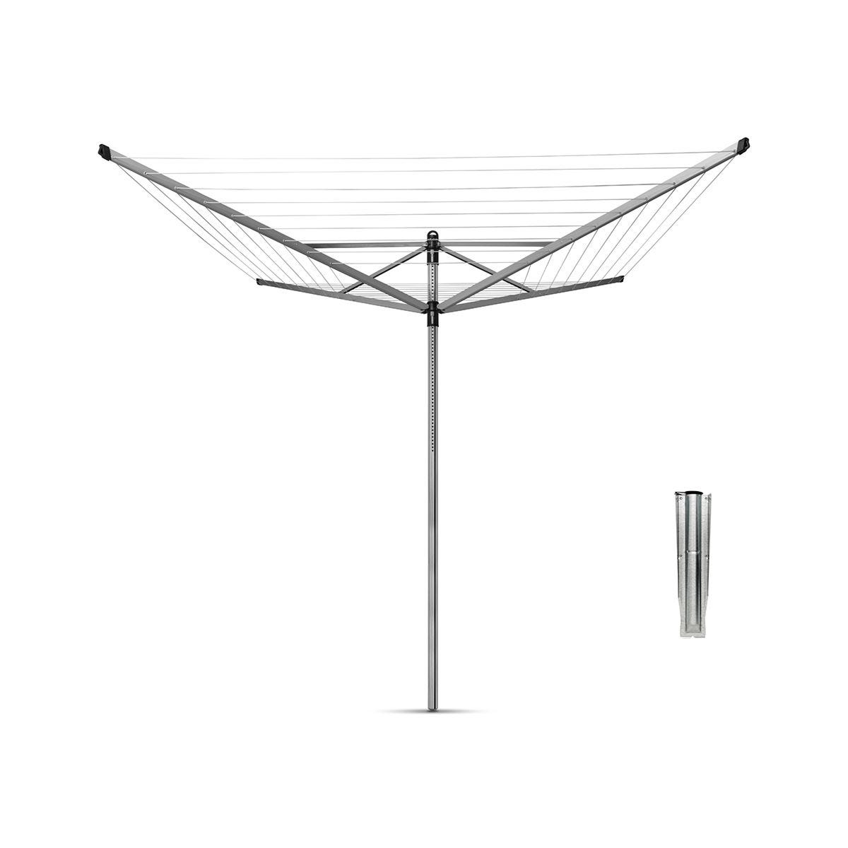 Brabantia Lift-O-Matic 40m 4-Arm Rotary Airer with Ground Spike