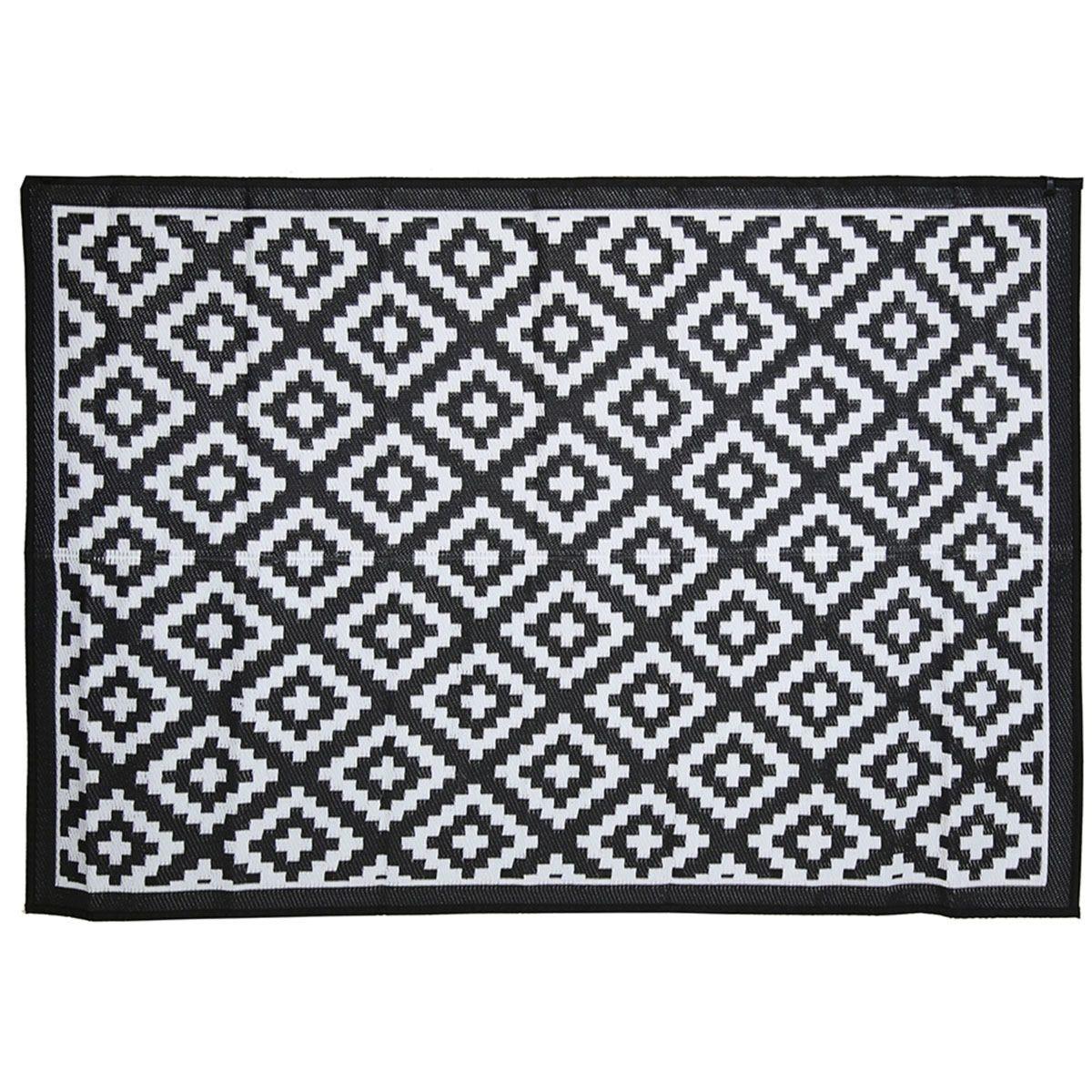 Charles Bentley Plastic Indoor/Outdoor Rug Large - Black