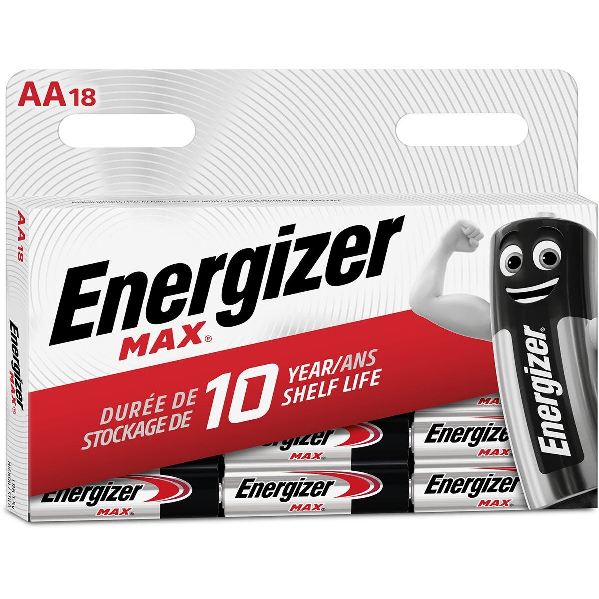 Energizer Max AA Batteries - Pack of 18