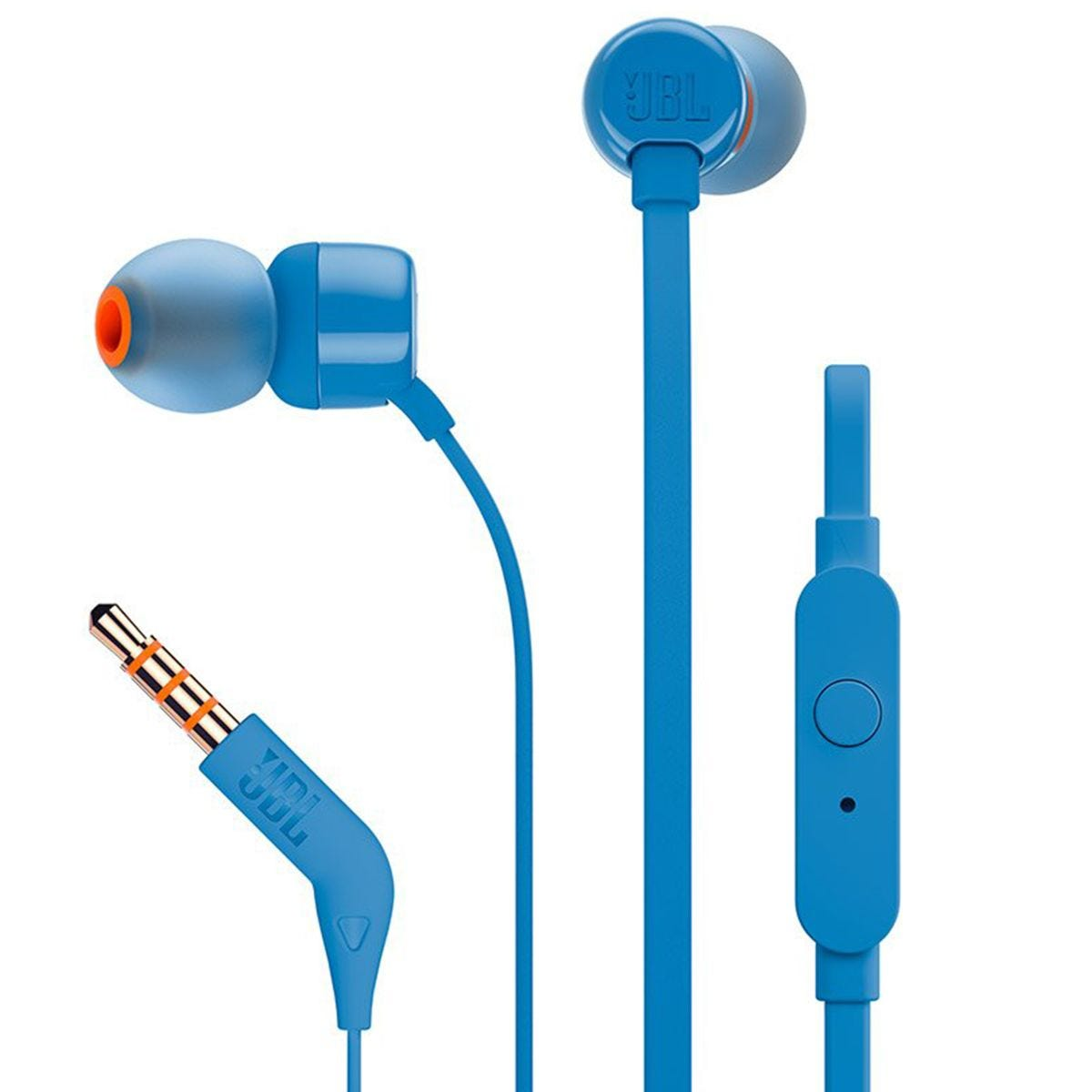 JBL T160 Tune Wired In-Ear Headphone with Mic - Blue