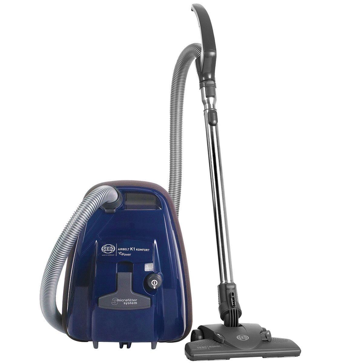 Sebo EB2664 890W Airbelt K1 Komfort EPower Bagged Vacuum Cleaner - Navy Blue