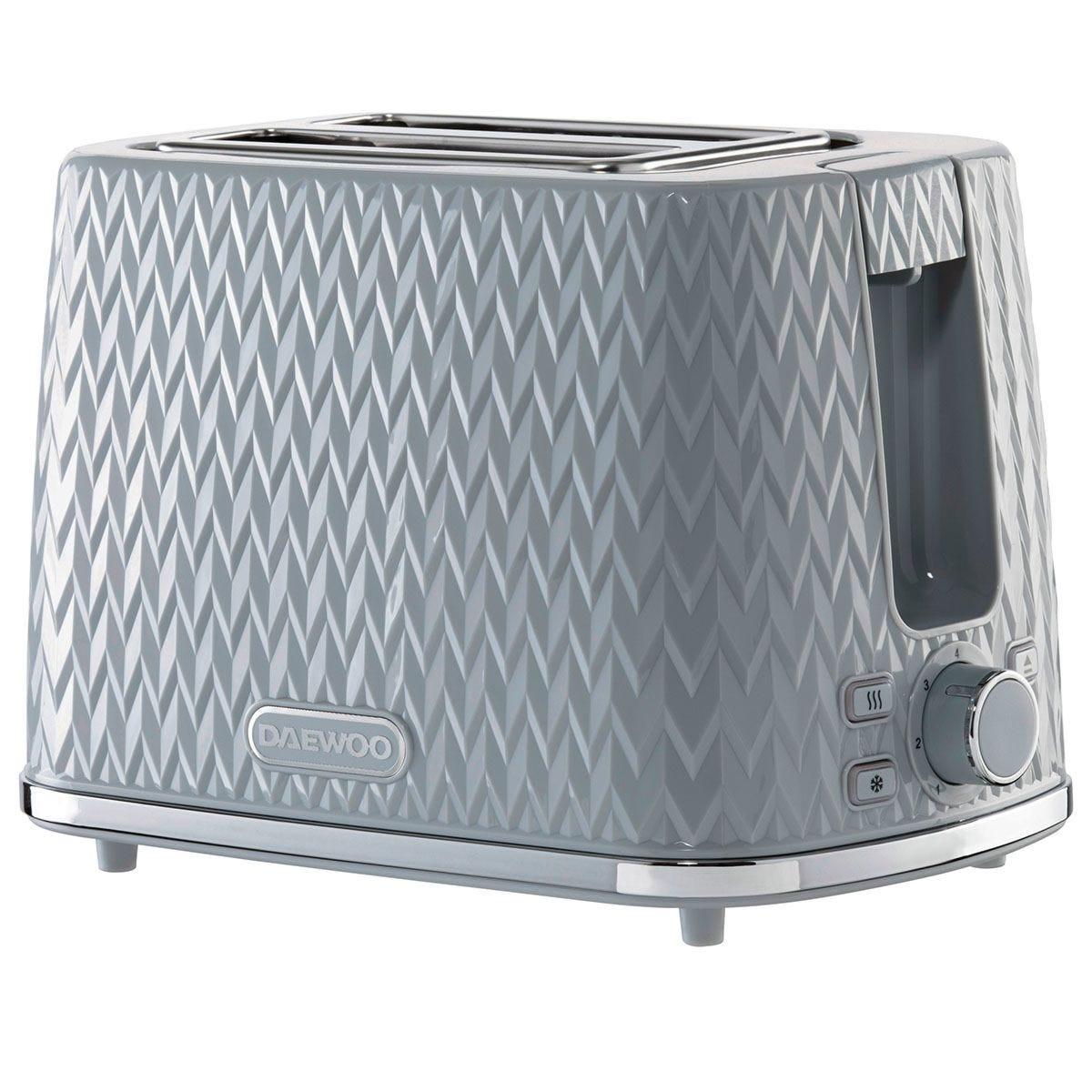 Daewoo Argyle 2-Slice Toaster - Grey
