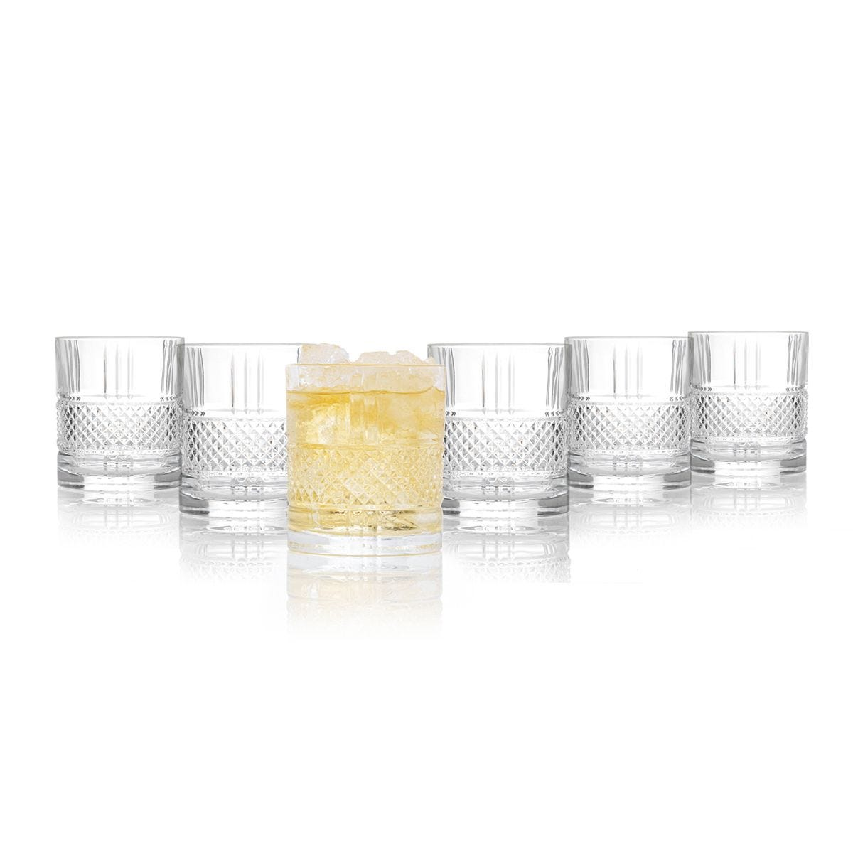 RCR Brilliante Crystal Whisky Glass Tumblers - Set of 6