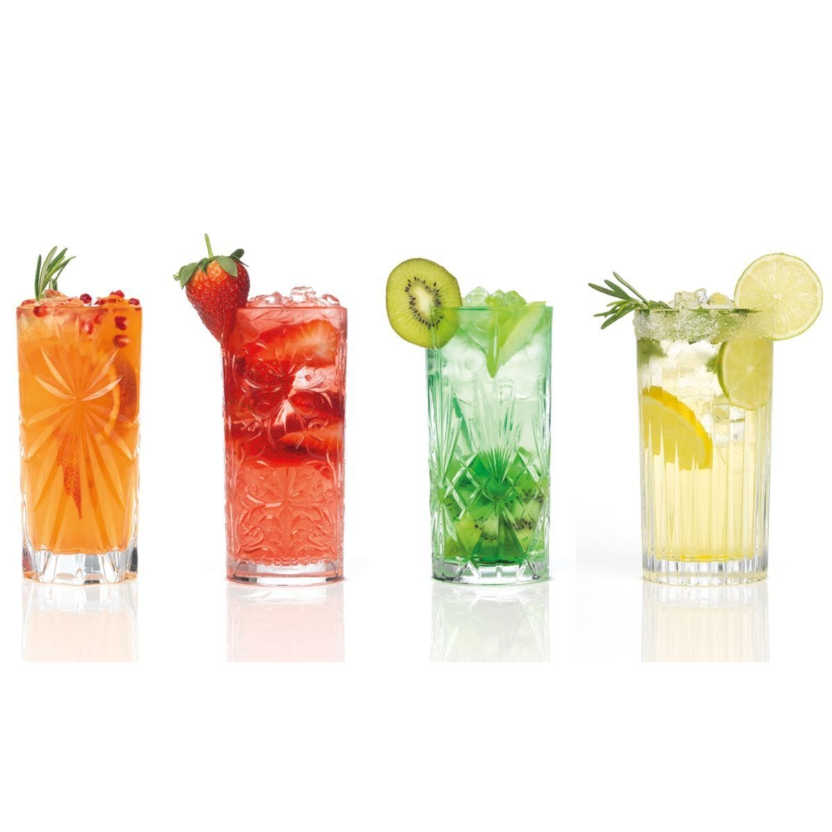 RCR Mixology Luxion Crystal HiBall Tumblers - Set of 4