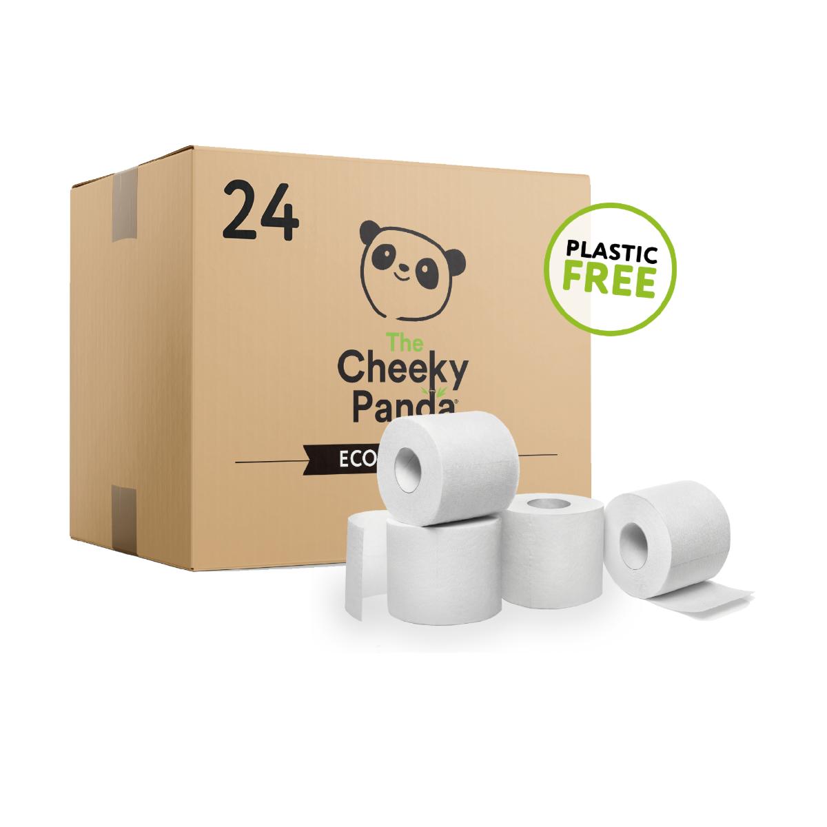 The Cheeky Panda Plastic Free 3 Ply Toilet Tissue - 24 Rolls