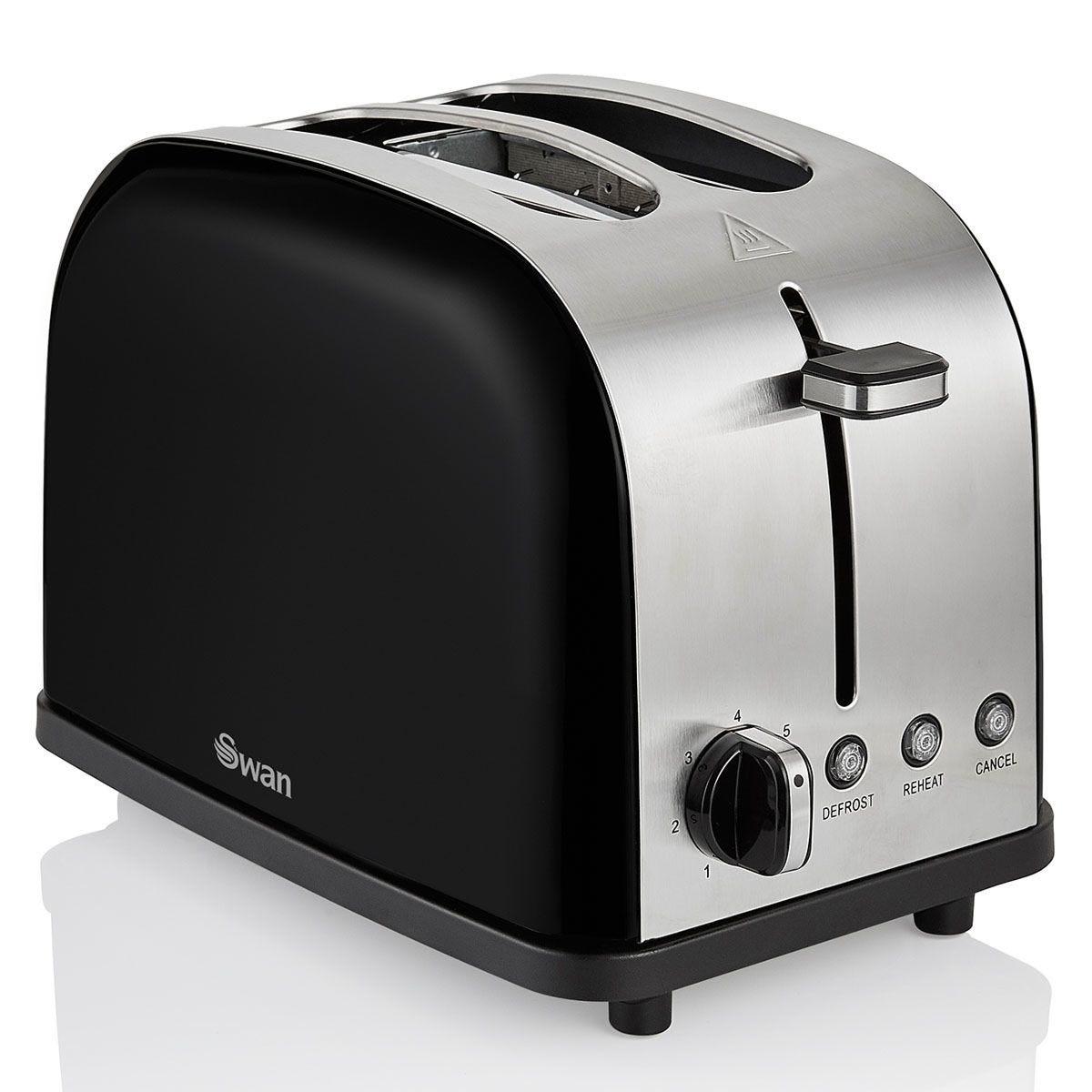 Swan ST14092BLKN Camden 2-Slice Toaster - Black