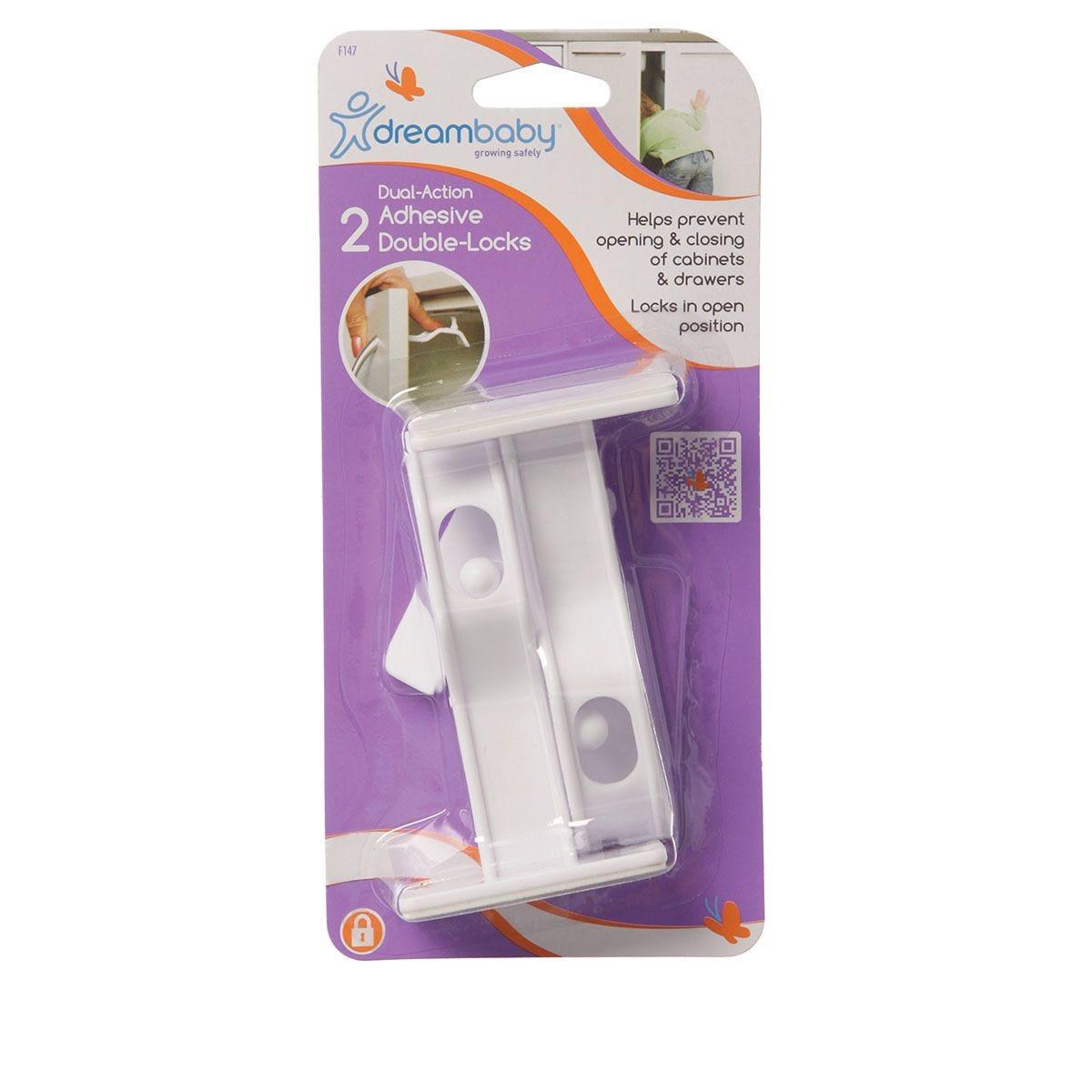Dreambaby Adhesive Cupboard/Door Locks - Pack of 2