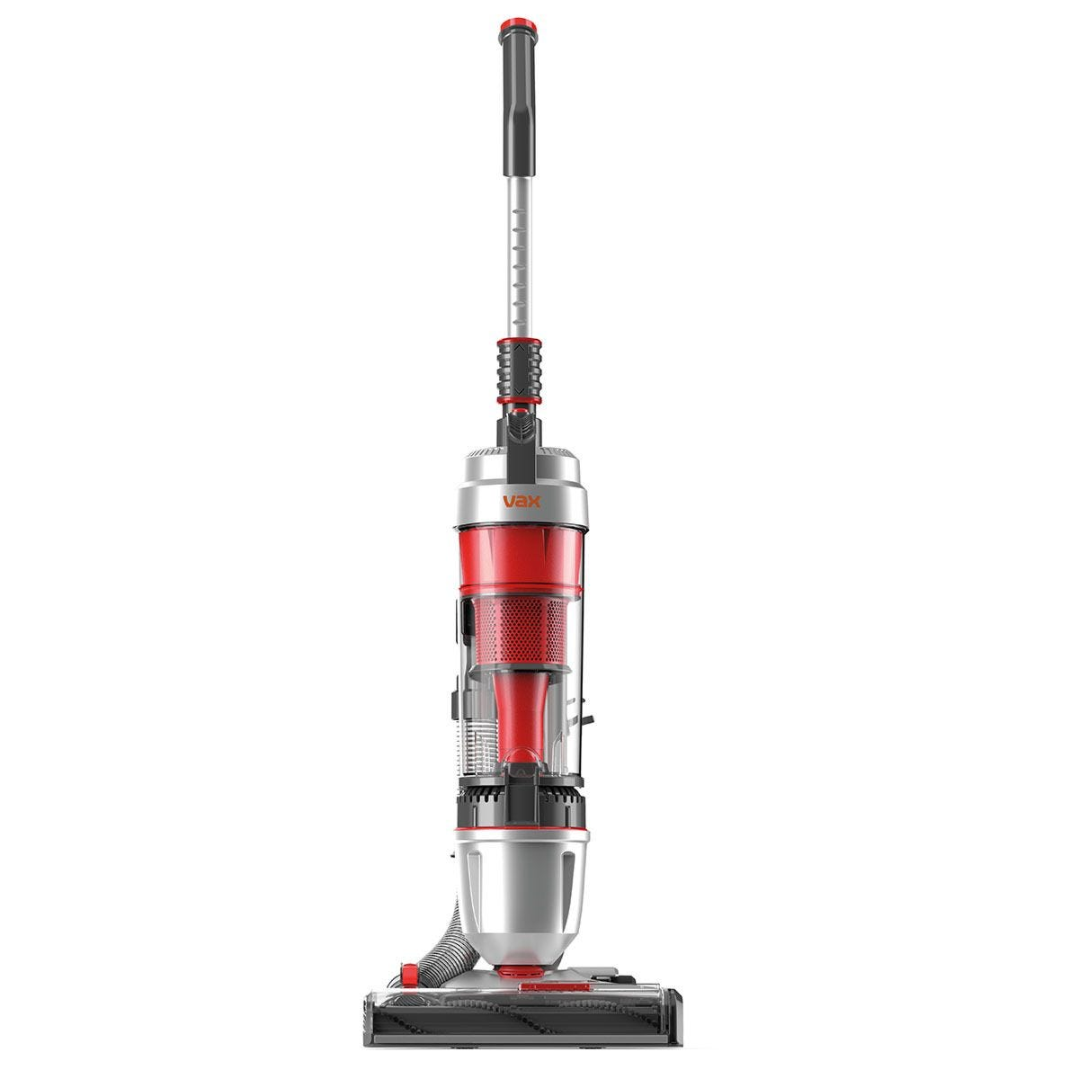 Vax UCUEGEV1 Air Stretch Pro Lightweight Bagless Upright Vacuum Cleaner – Silver & Red